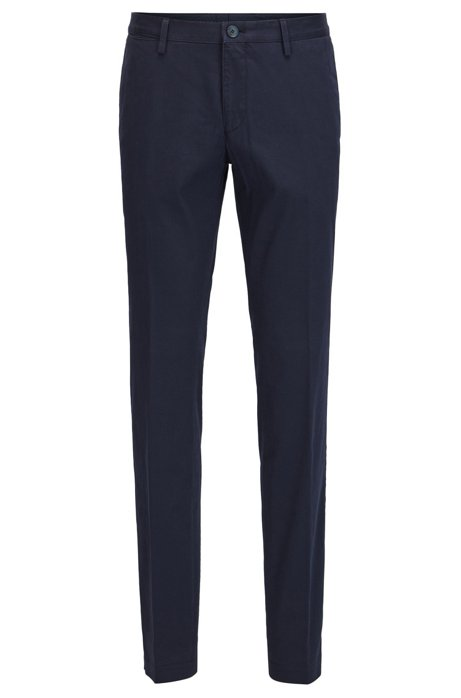 Slim-fit trousers in garment-dyed stretch cotton BOSS iznjZ