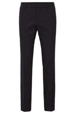 Stretch Cotton Dress Pant, Extra-Slim Fit | Winn, Black