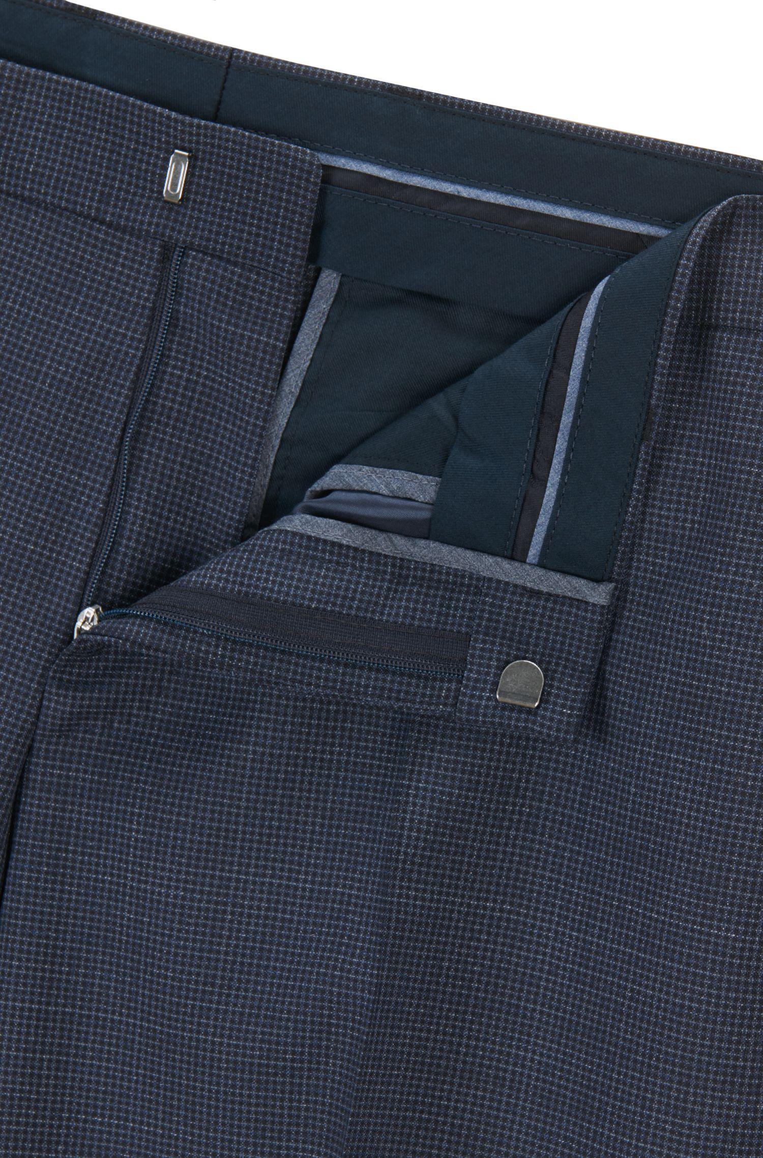 Basketweave Virgin Wool Dress Pant, Slim Fit | Genesis