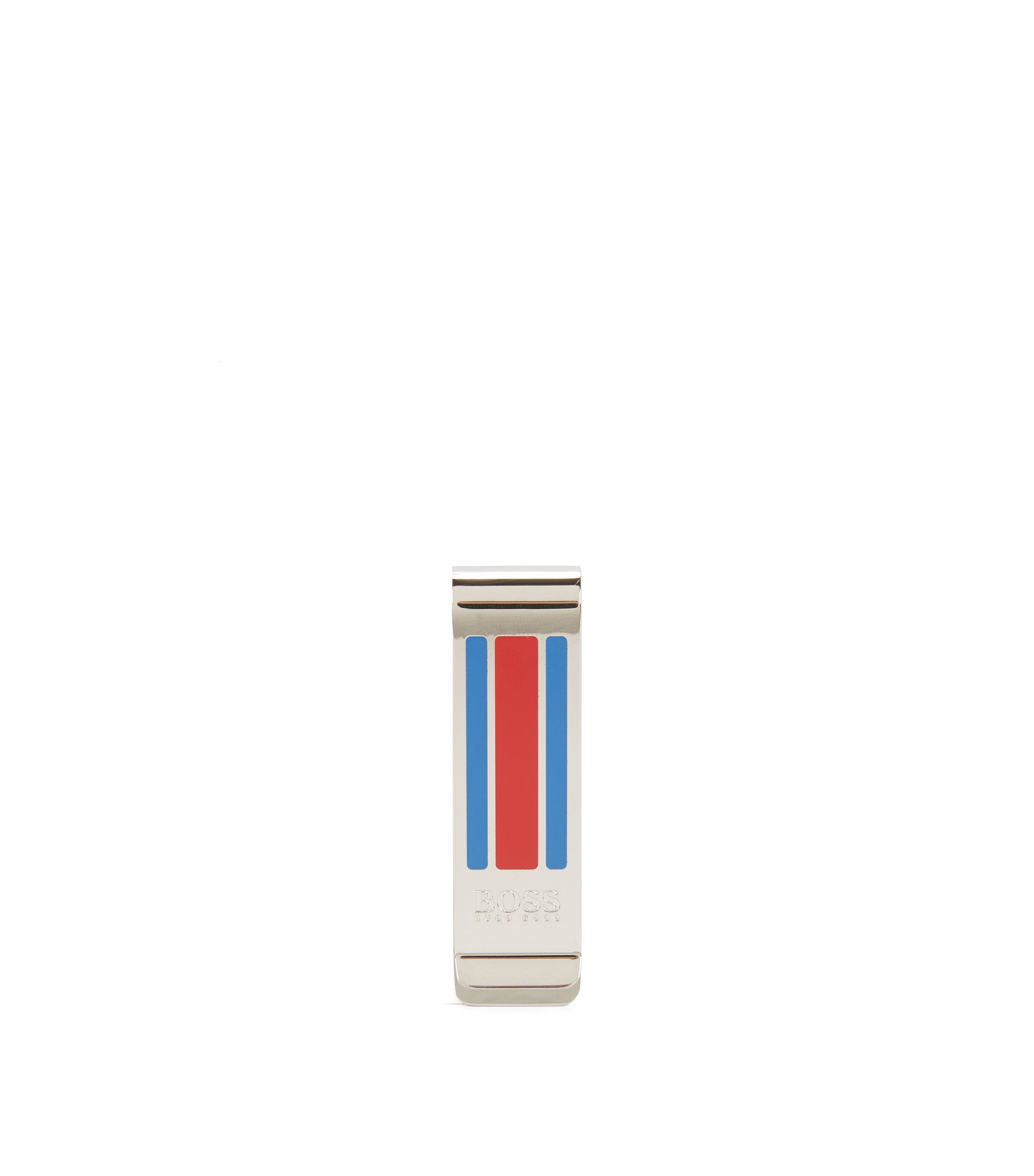 Enamel & Brass Money Clip | Timeless Money cl M, Silver