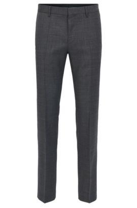 Piped Virgin Wool Dress Pant, Slim Fit | Blake, Open Grey
