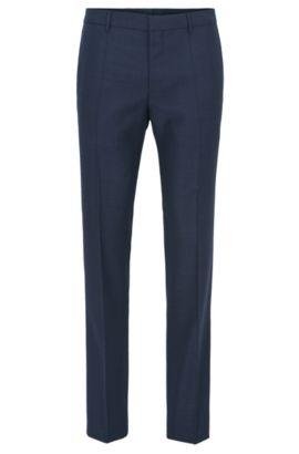 Piped Virgin Wool Dress Pant, Slim Fit | Blake, Dark Blue