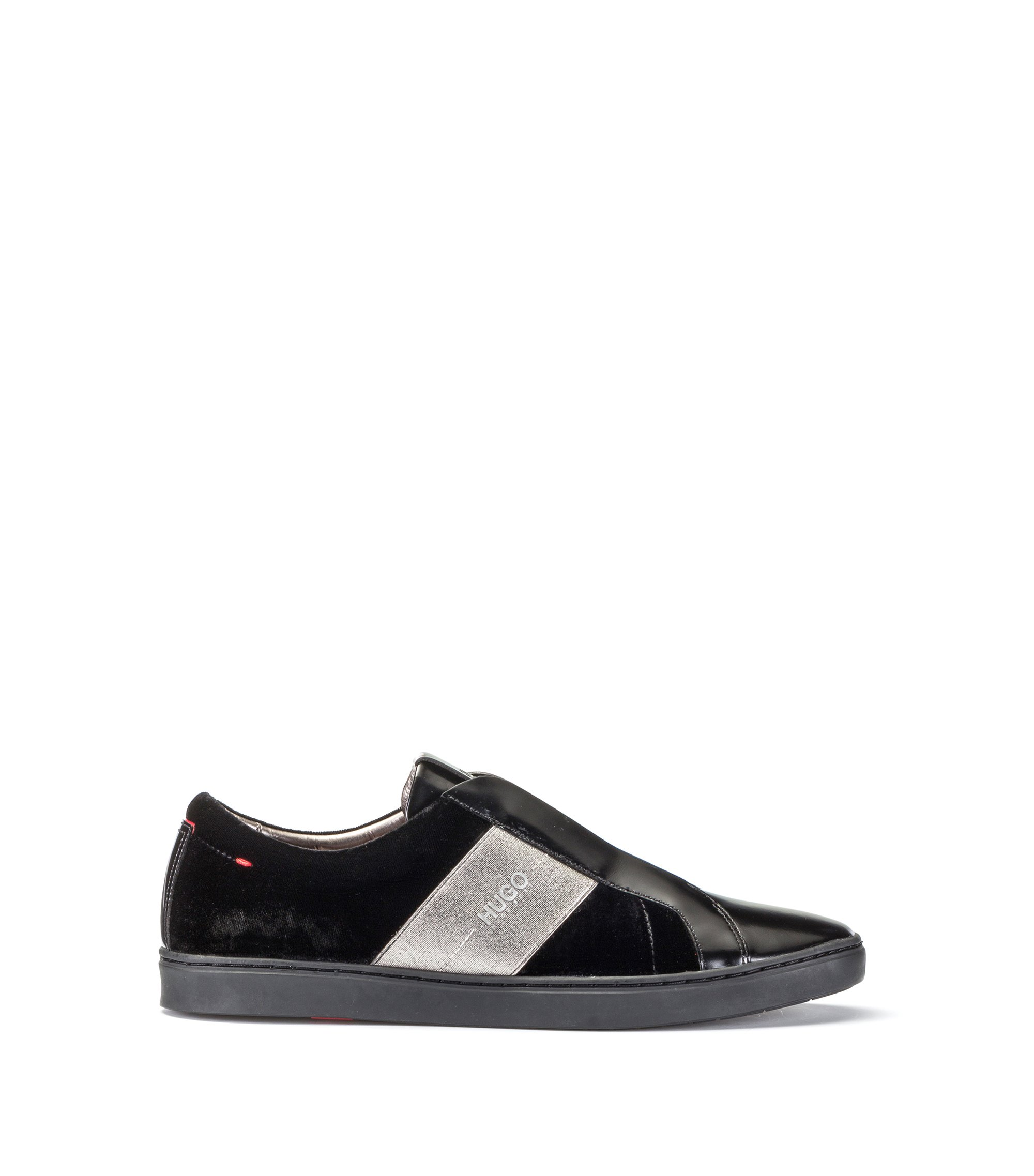 Velvet Laceless Sneaker | Post Tenn Vlt, Black