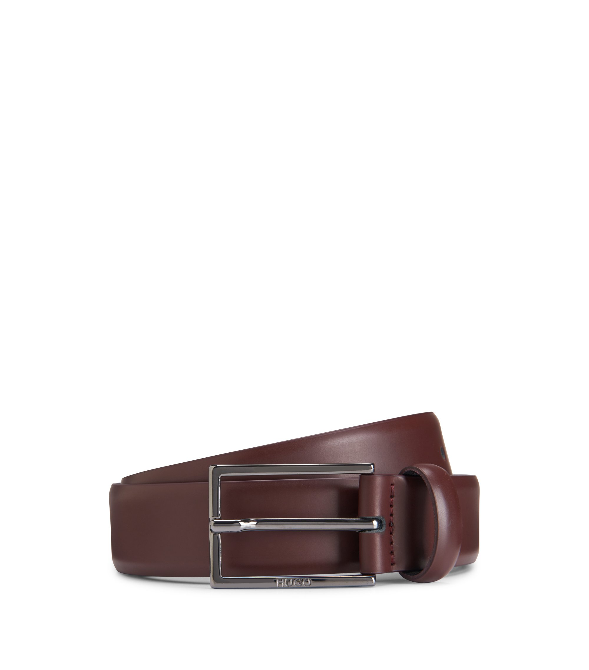 Studded Leather Belt | Gavri Sz30, Dark Red