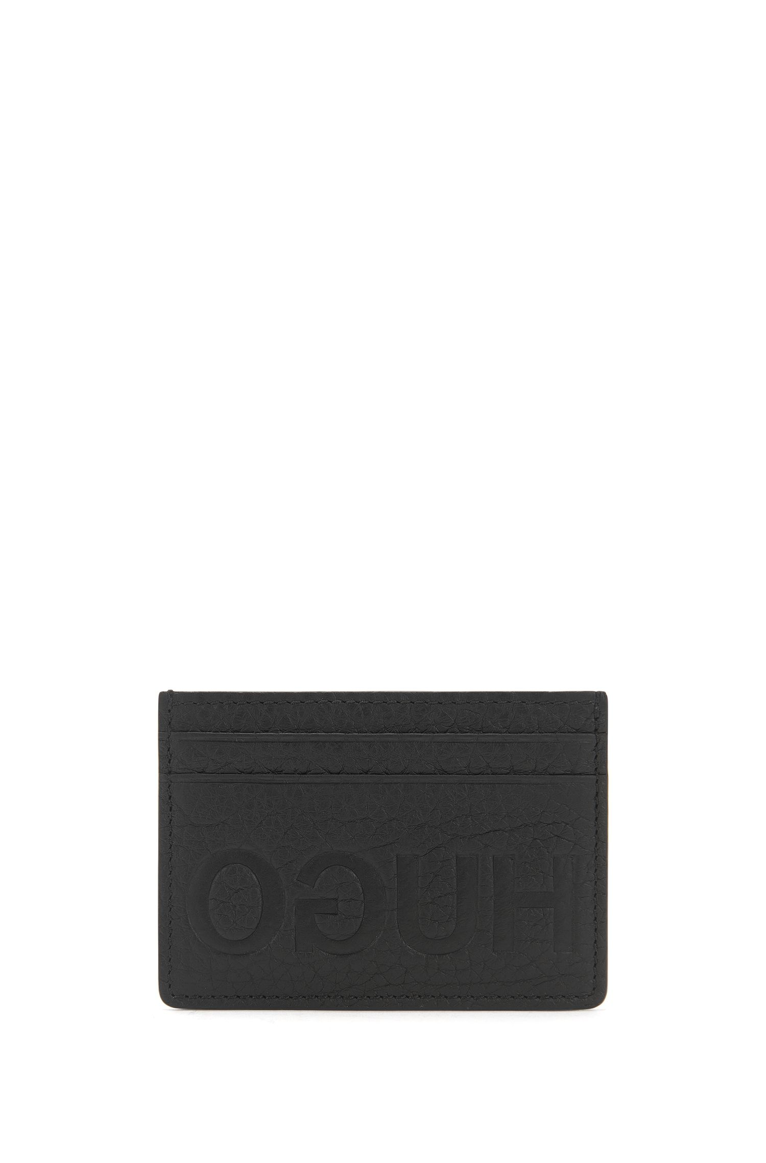 Full-Grain Leather Card Holder | Victorian L S Card, Black
