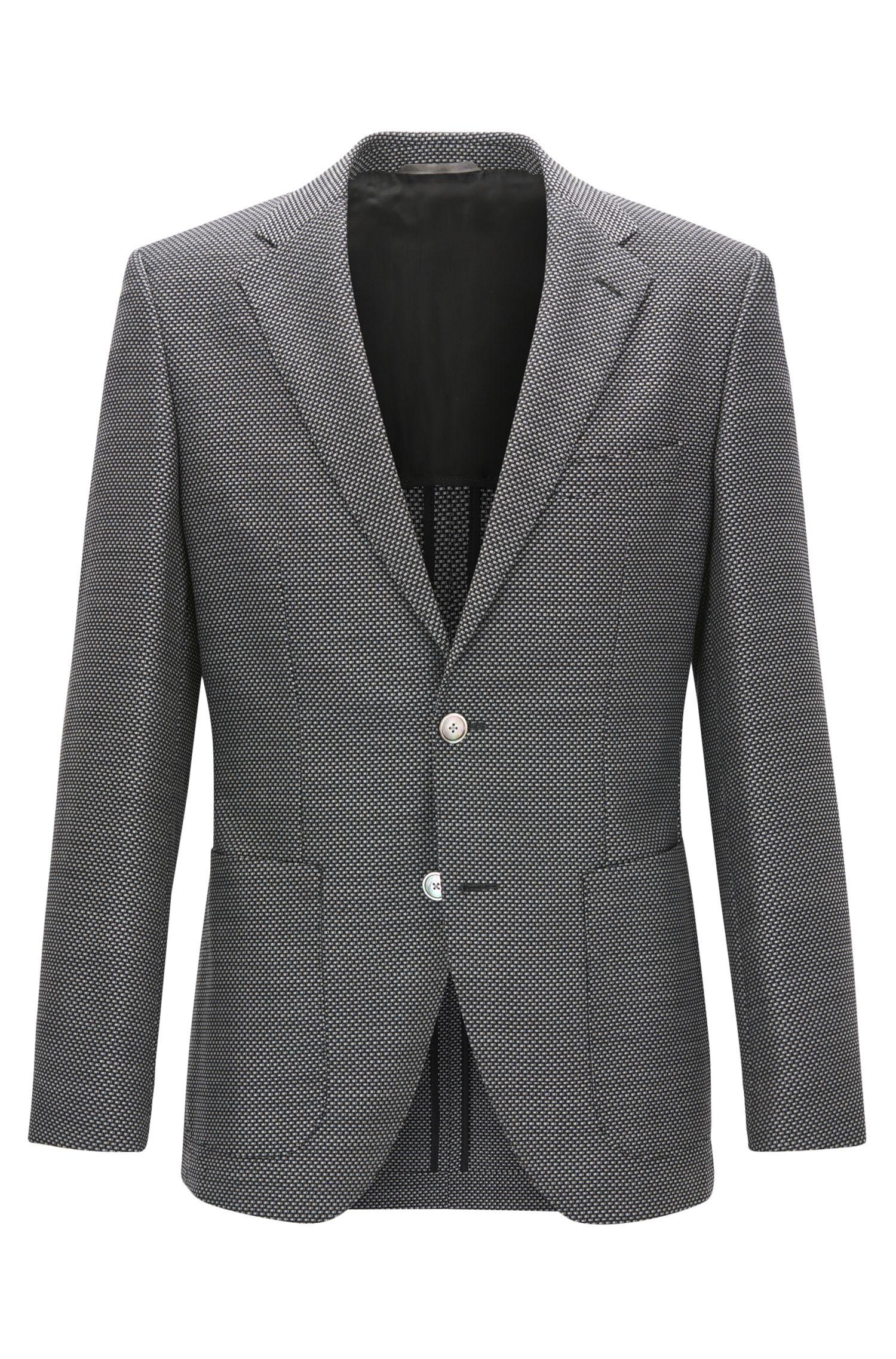 Basketweave Virgin Wool Sport Coat, Regular Fit | Janson