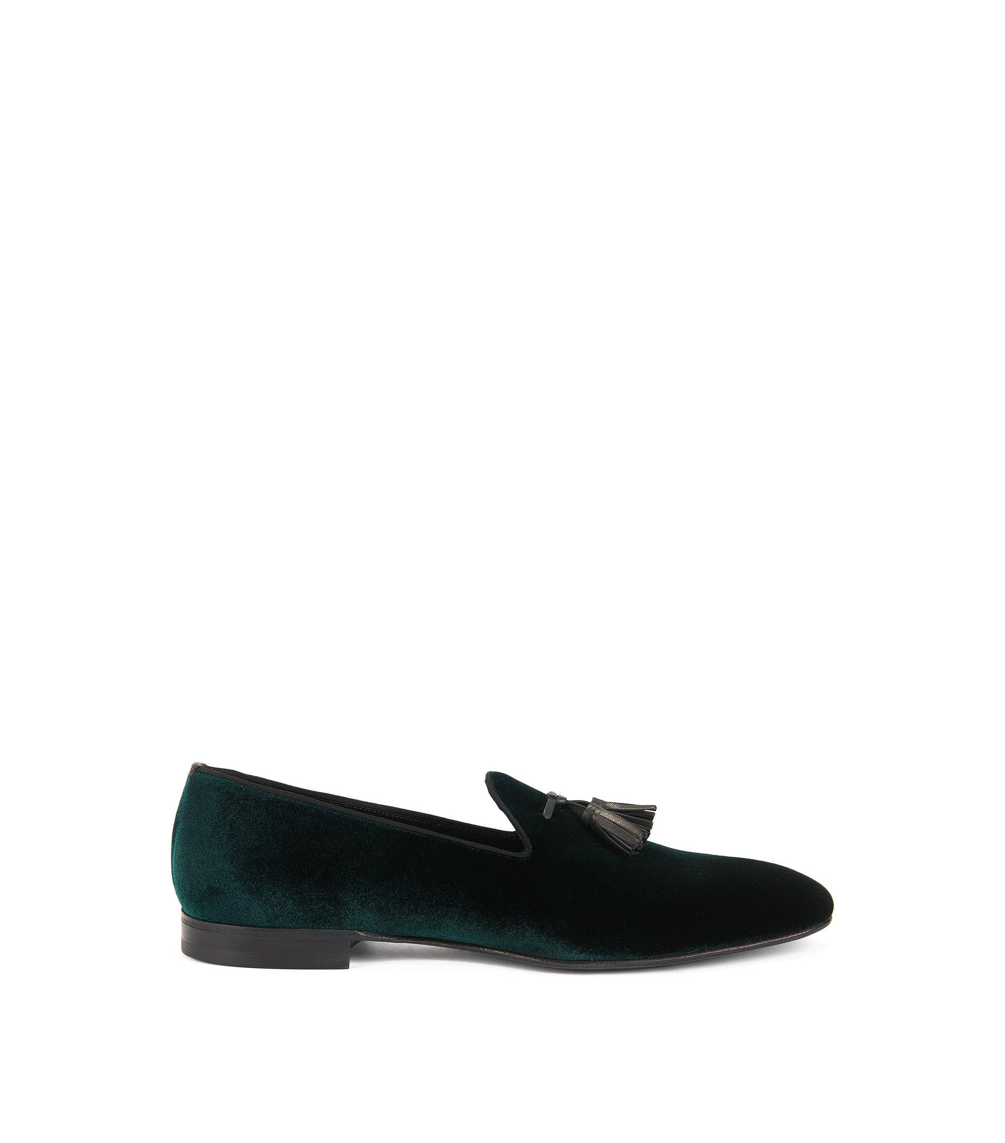 Italian Velvet Penny Loafer | Glam Slon Vlt, Dark Green