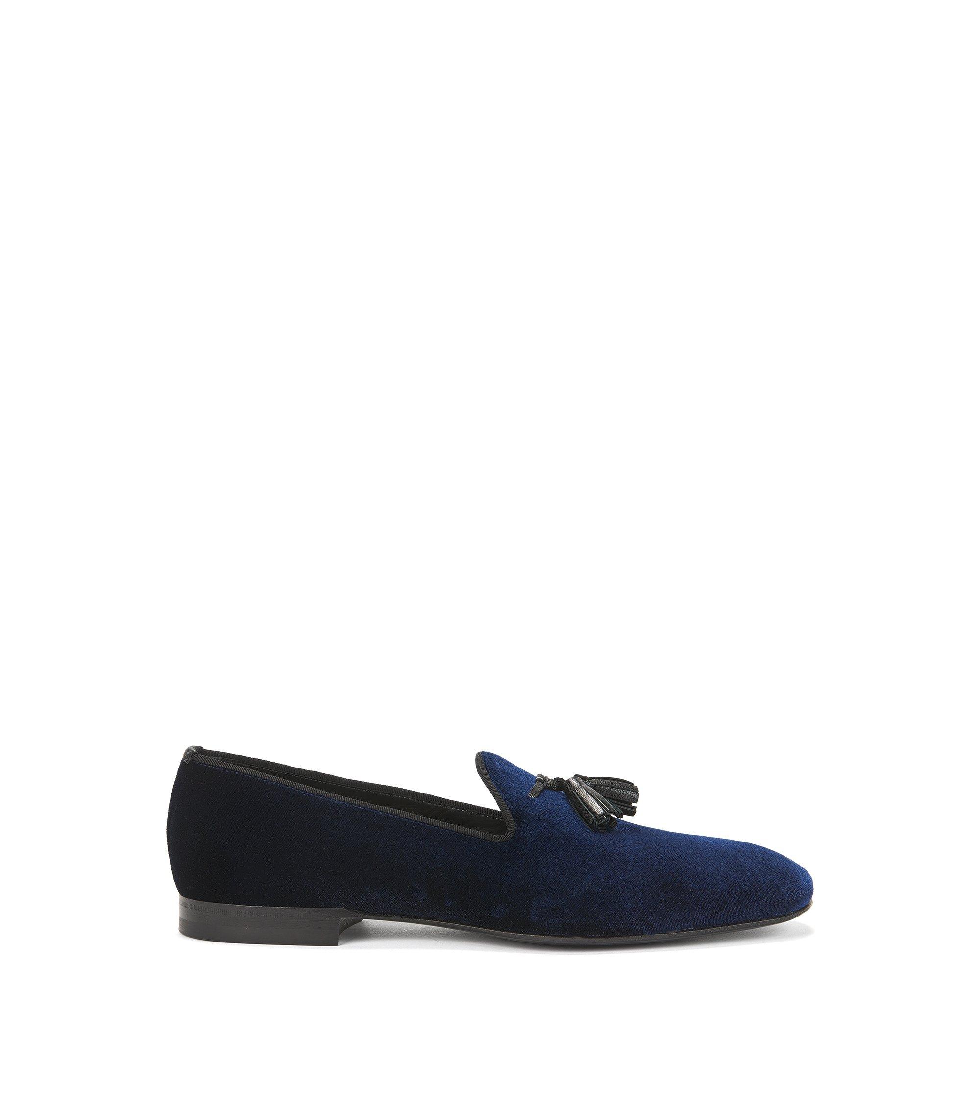 Italian Velvet Penny Loafer | Glam Slon Vlt, Dark Blue