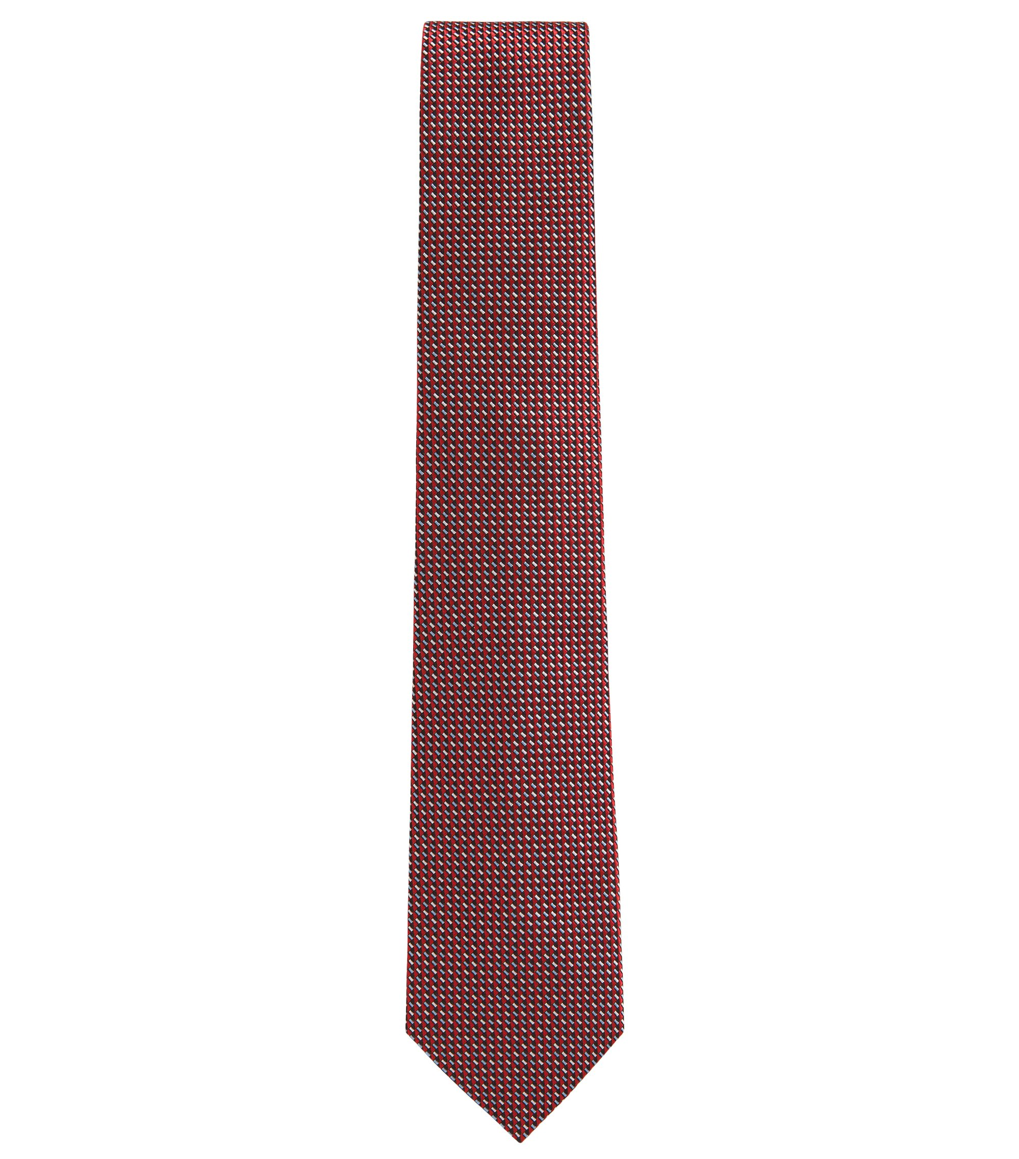BOSS Tailored Geometric Italian Silk Tie , Red