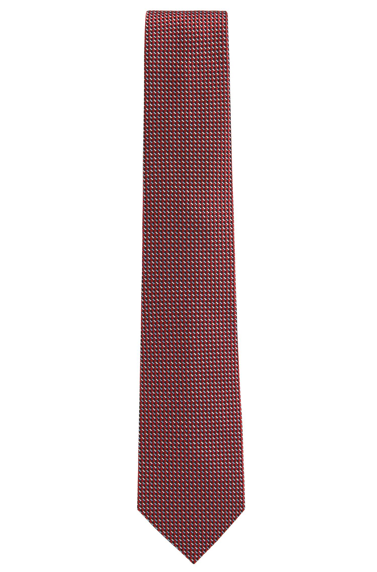 BOSS Tailored Geometric Italian Silk Tie