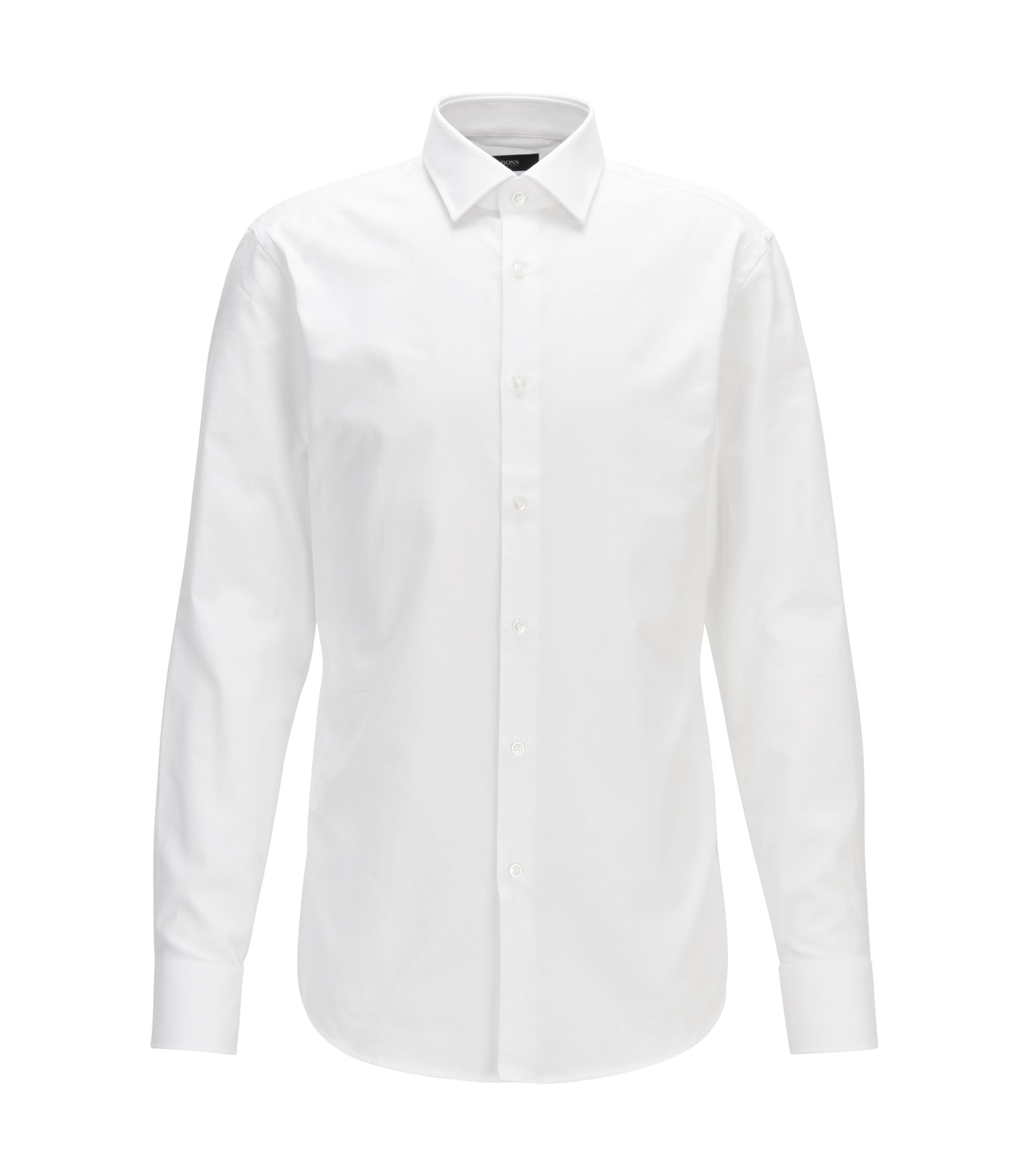 Cotton Dress Shirt, Slim Fit | Jenno, White