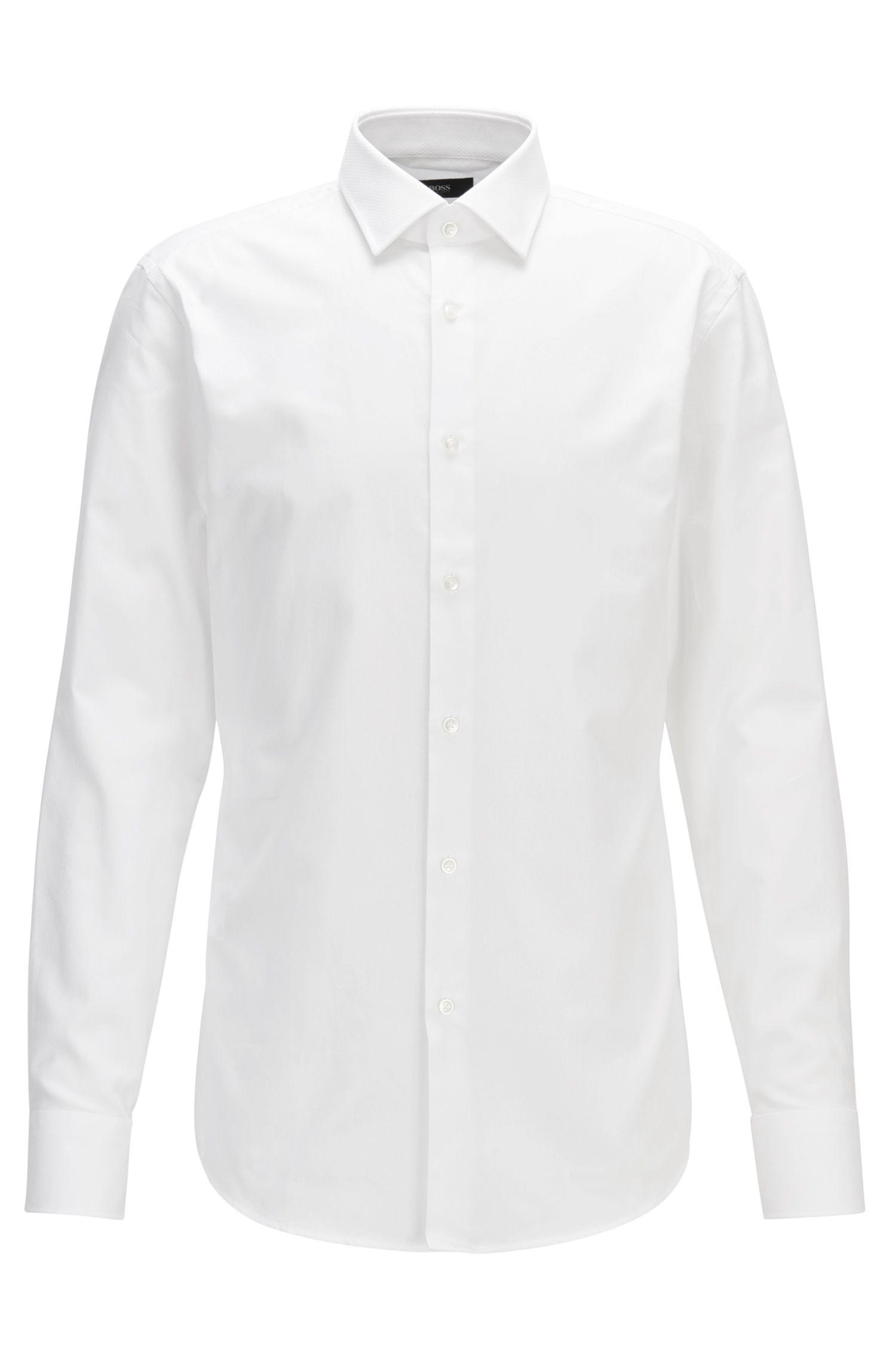 Cotton Dress Shirt, Slim Fit | Jenno, White