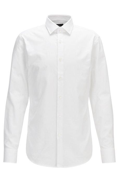 f12b5470a BOSS - Cotton Dress Shirt, Slim Fit   Jenno