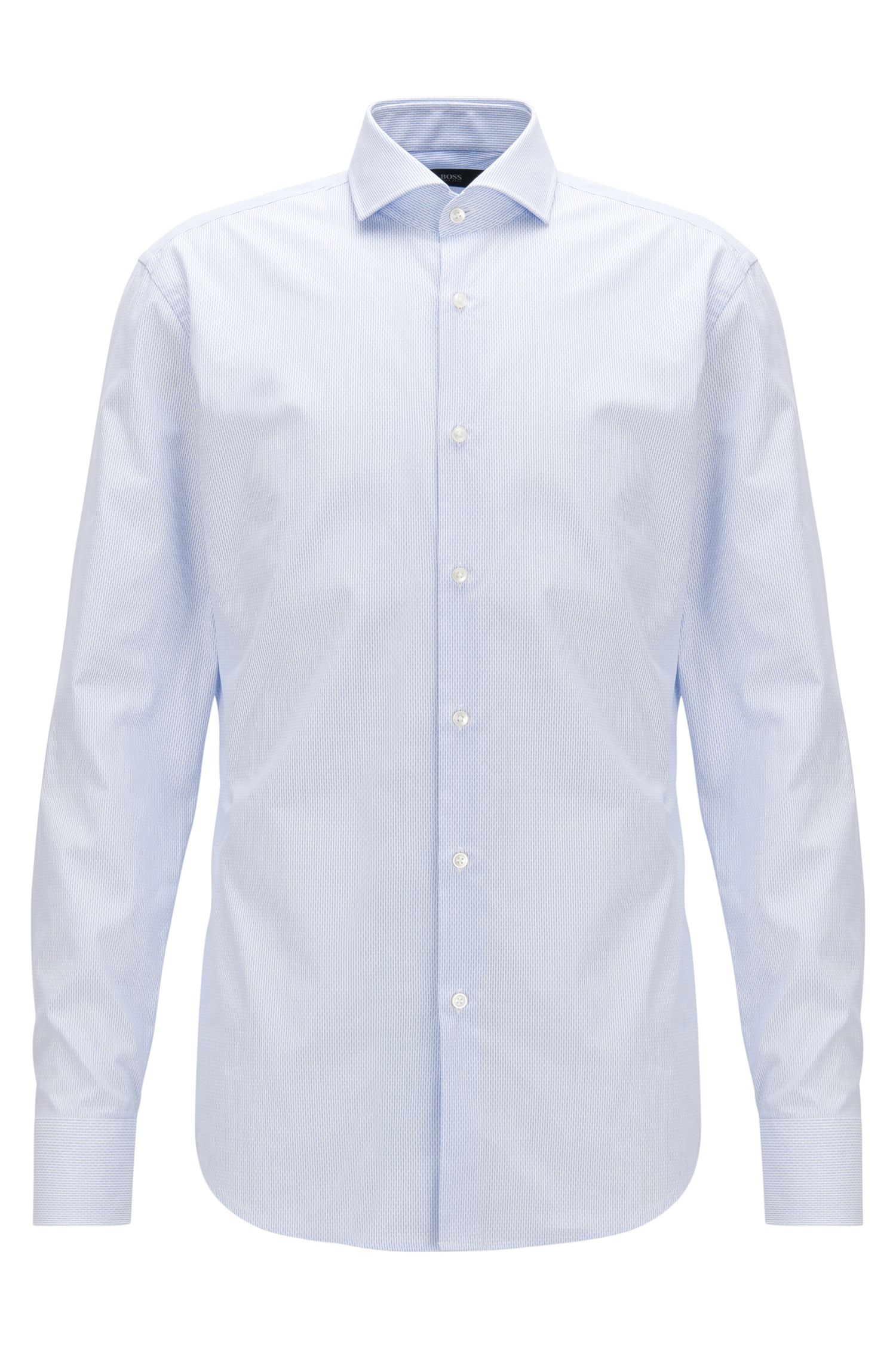 Textured Dobby Cotton Dress Shirt, Slim Fit | Jason