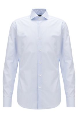 Textured Dobby Cotton Dress Shirt, Slim Fit | Jason, Light Blue