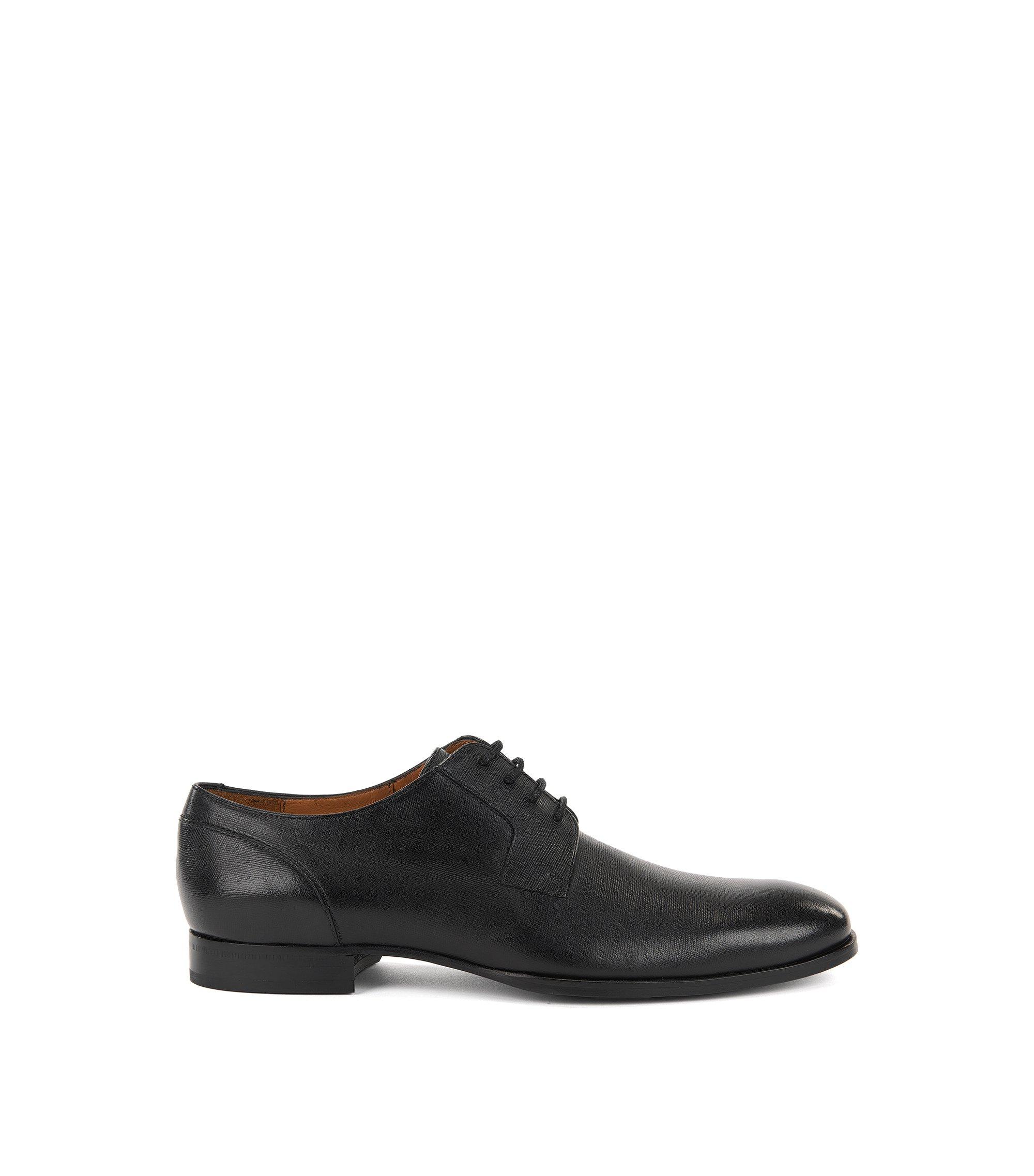 Italian Leather Derby Dress Shoe | Hannover Derb Pr, Black