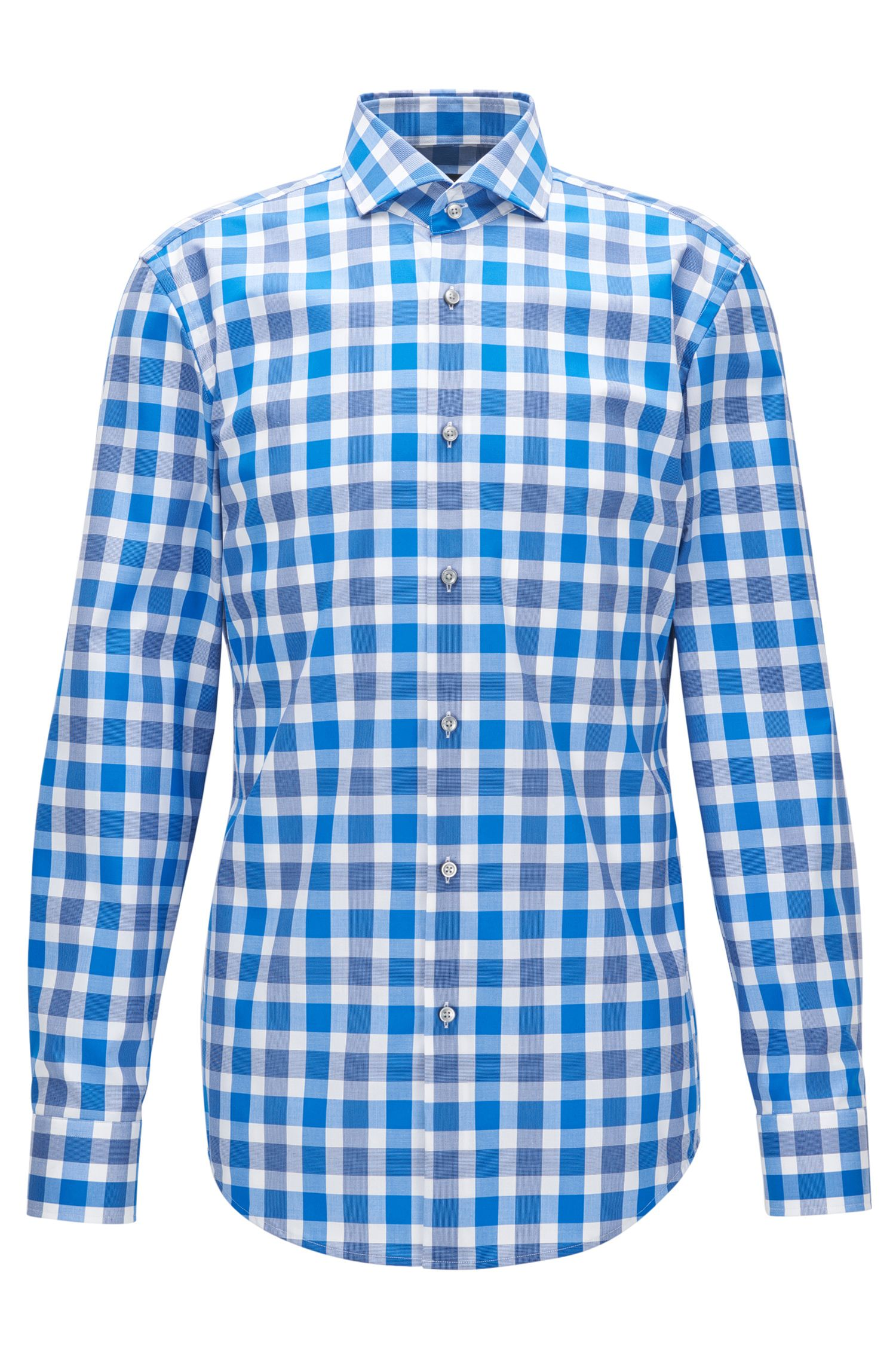 Checked Cotton Dress Shirt, Slim Fit | Jason