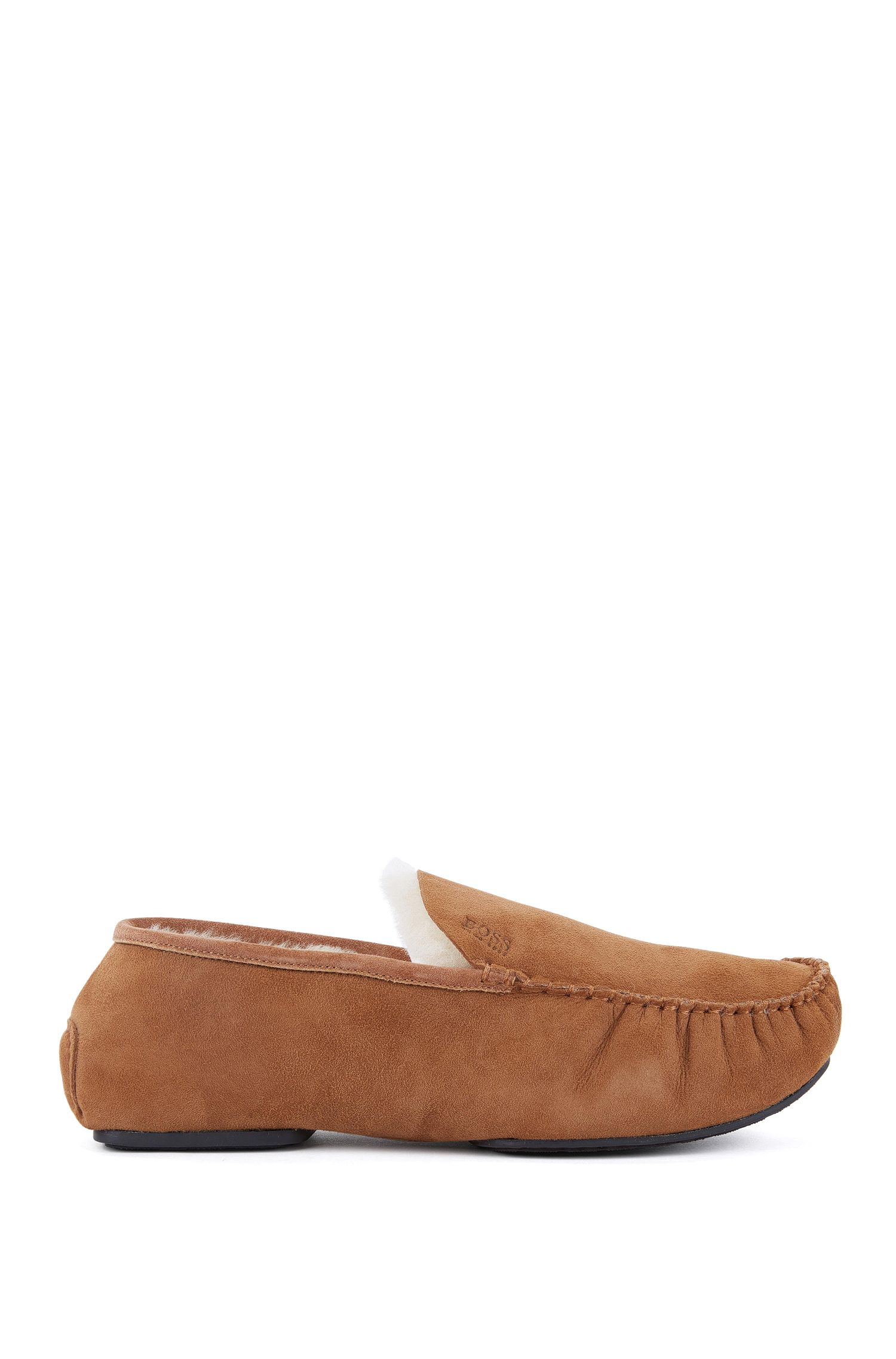 Sheerling-Lined Suede Moccasins | Relax Mocc
