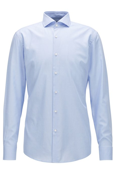09628b04 BOSS - Cotton Dress Shirt, Slim Fit | Jason