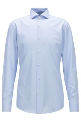 Cotton Dress Shirt, Slim Fit | Jason, Light Blue
