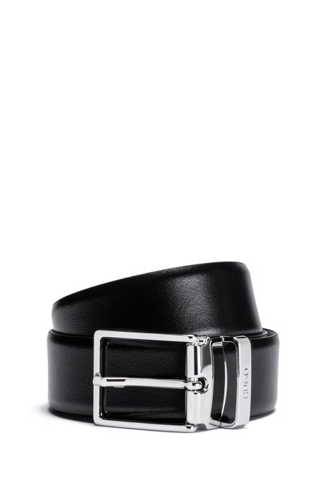 dfe8486c2b5 Reversible Leather Belt | Galvo Or35 pp, Black