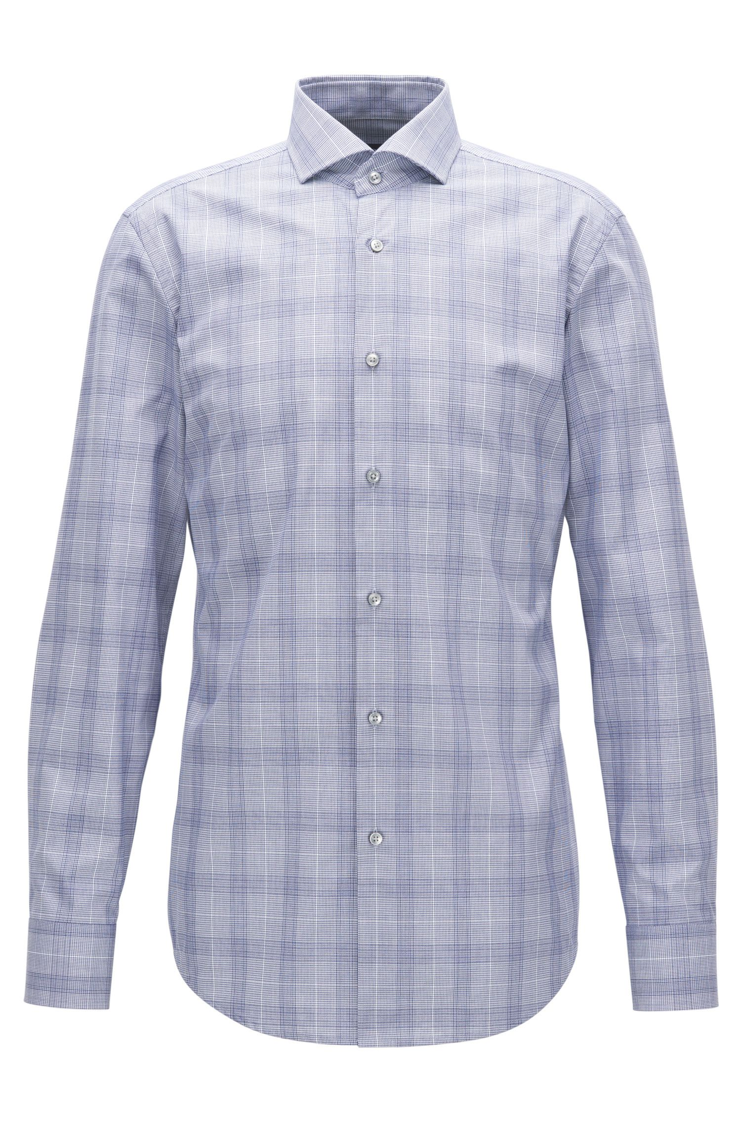 Windowpane Cotton Dress Shirt, Slim Fit | Jason