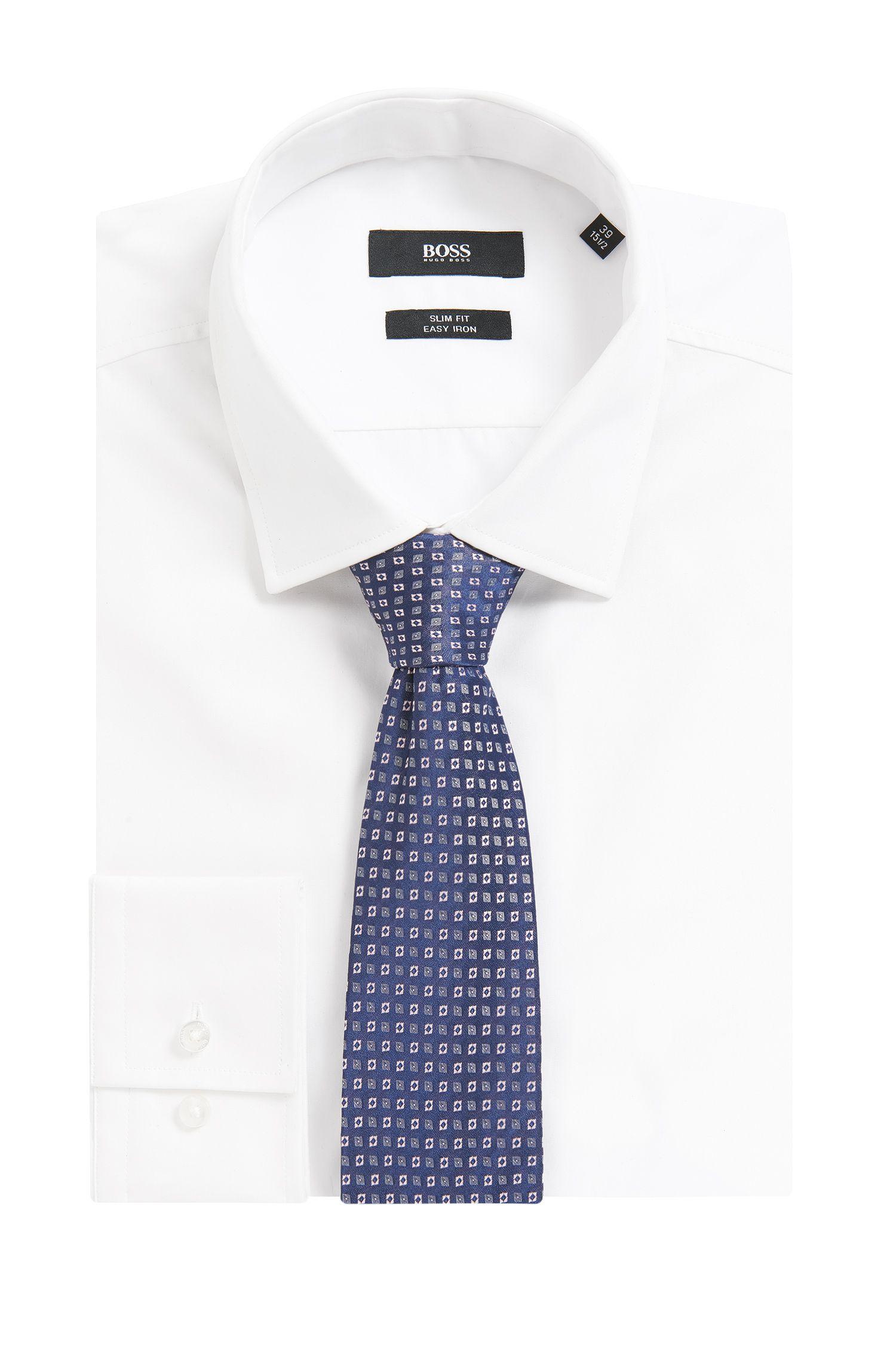 Square Checked Italian Silk Tie
