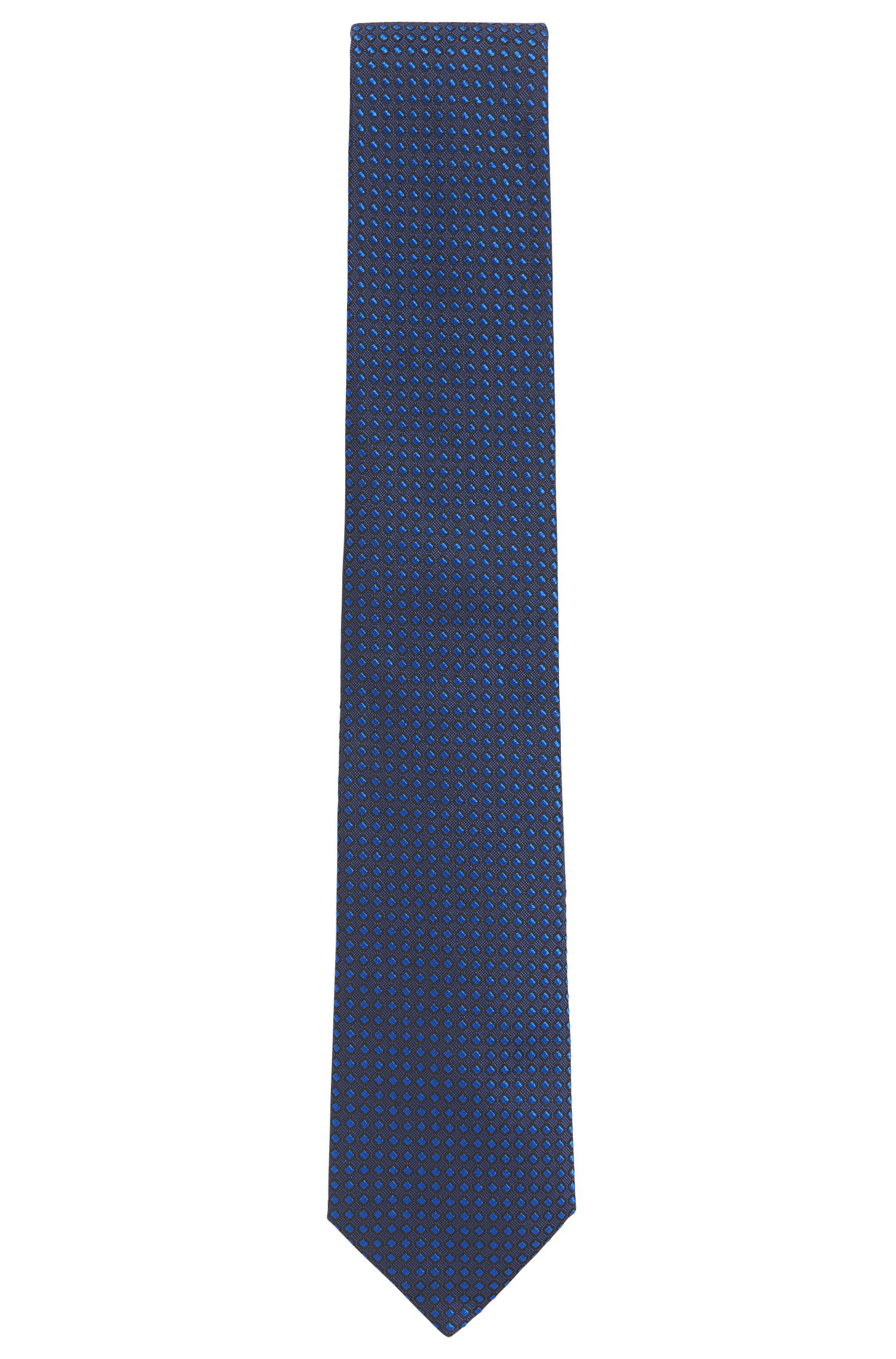 Dot Embroidered Italian Silk Tie