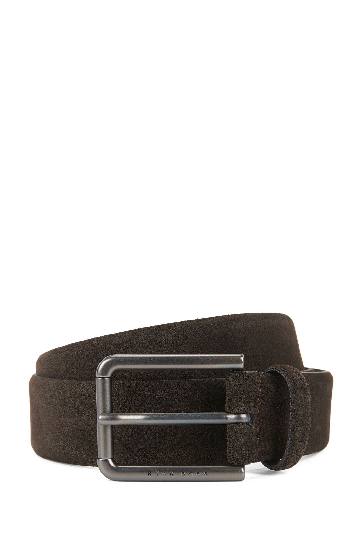 Suede Belt | Sily , Dark Brown