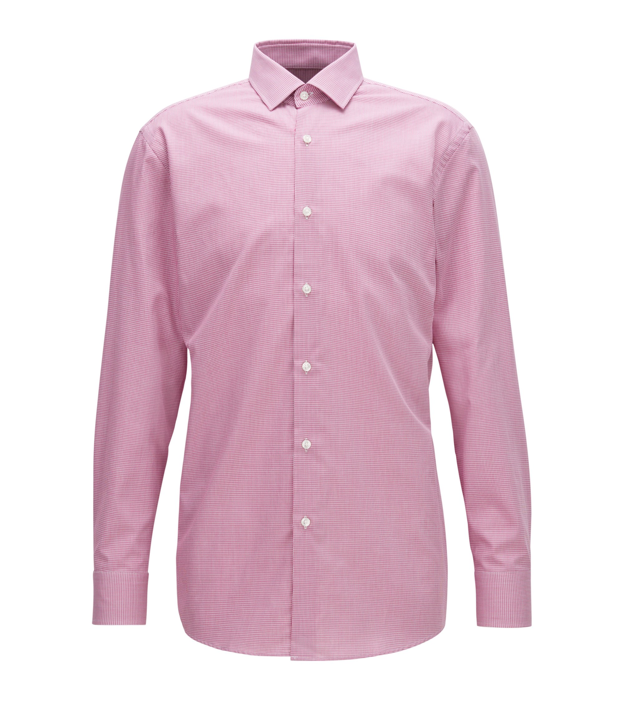 Nailhead Cotton Dress Shirt, Slim Fit | Marley US, Dark pink