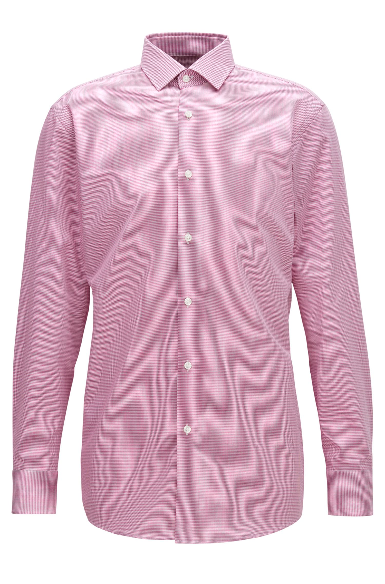 Nailhead Cotton Dress Shirt, Slim Fit | Marley US, Dark pink