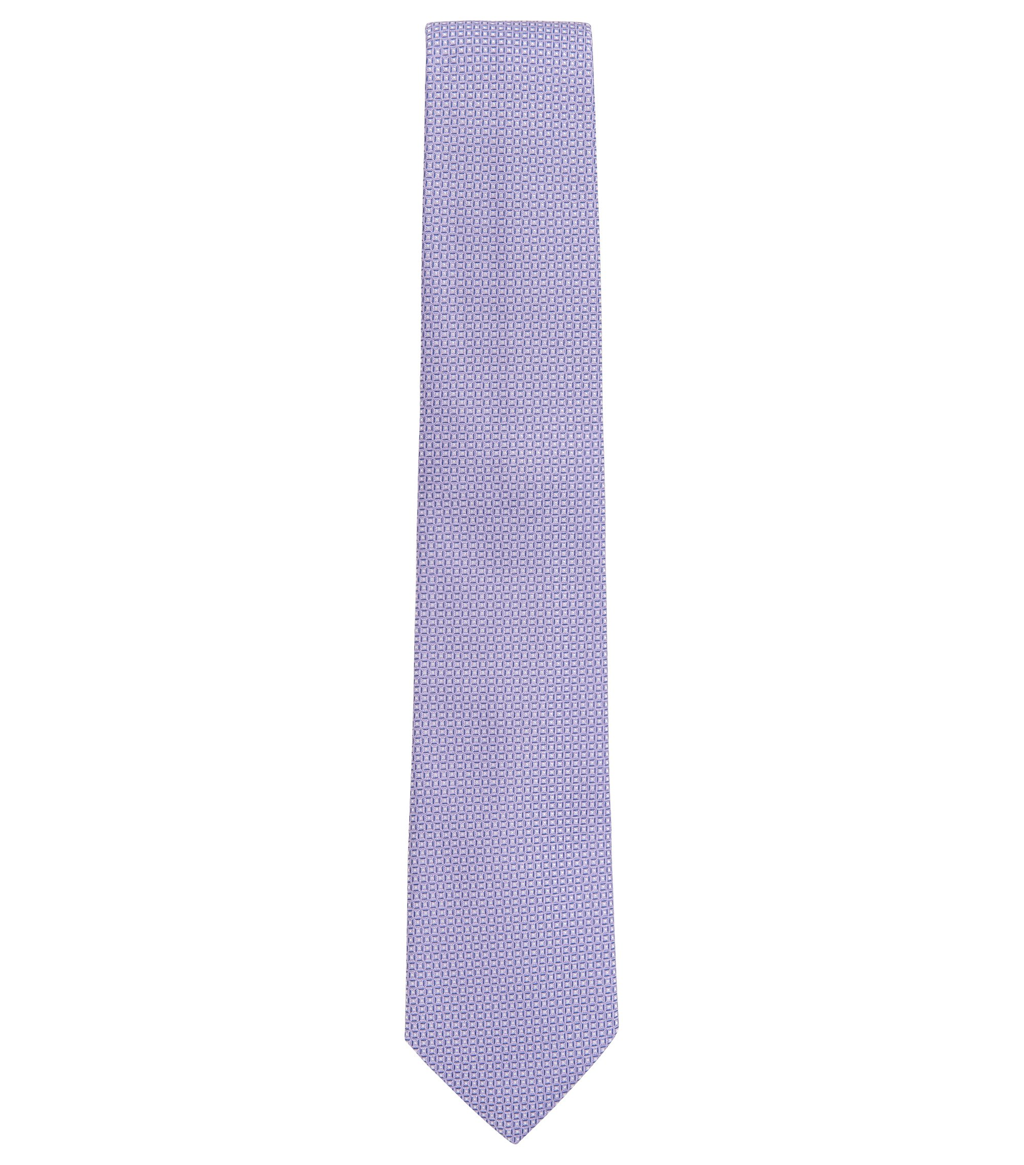 Patterned Italian Silk Tie, Light Purple