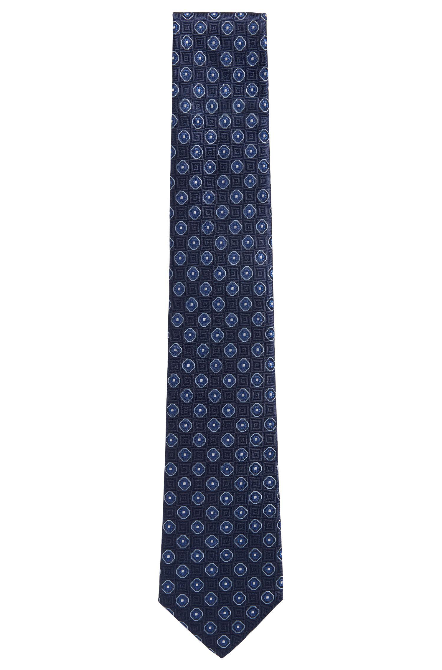 Square Jacquard Italian Silk Tie
