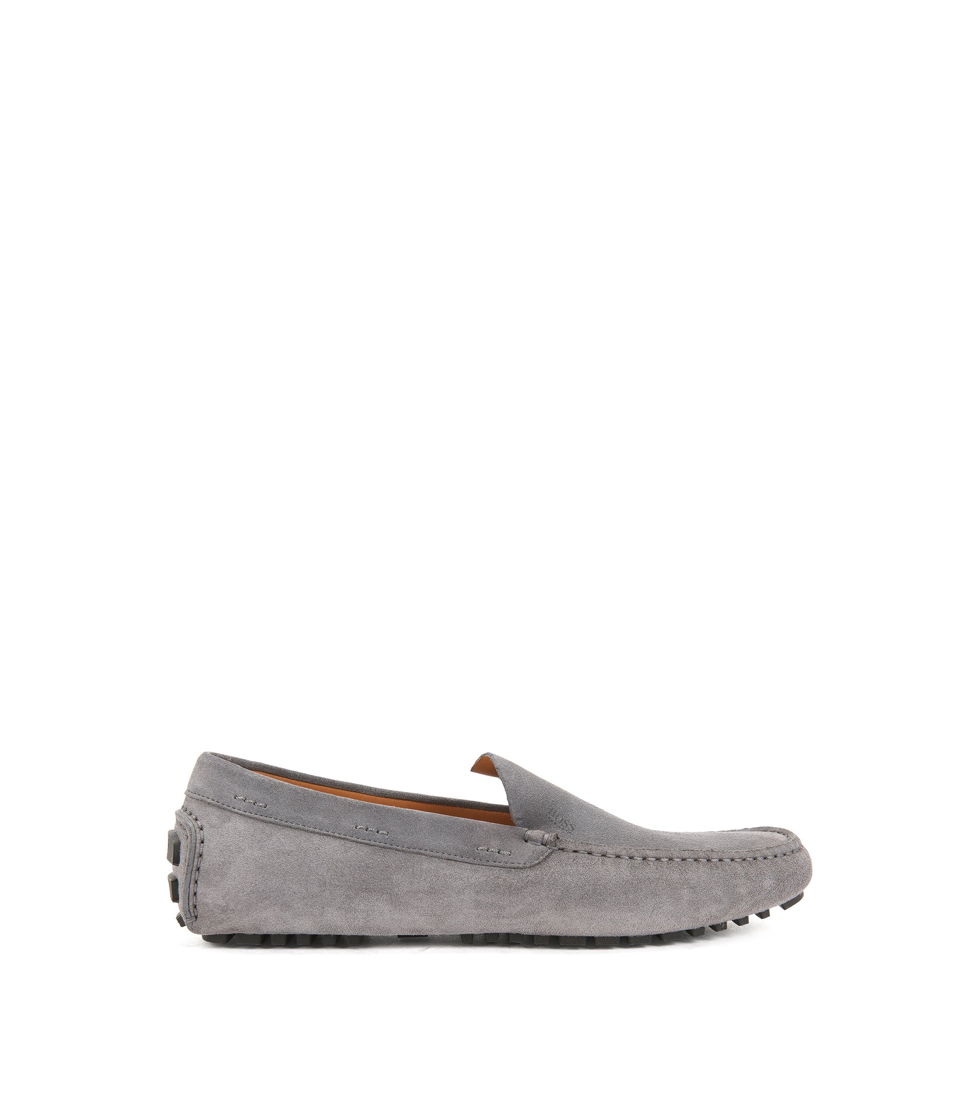 Suede Driving Loafer | Leather Driver , Dark Grey