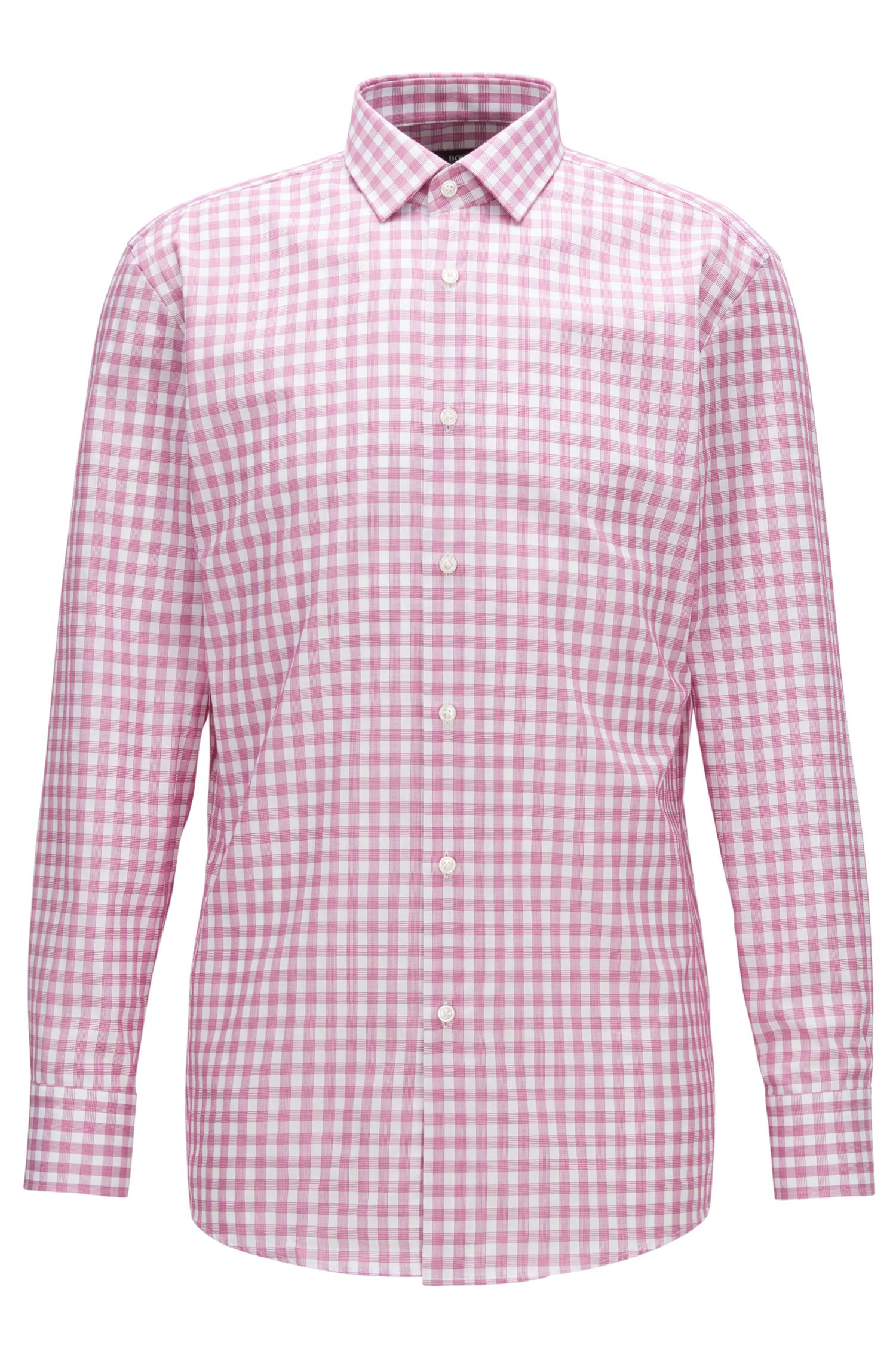Checked Cotton Dress Shirt, Slim Fit | Marley US