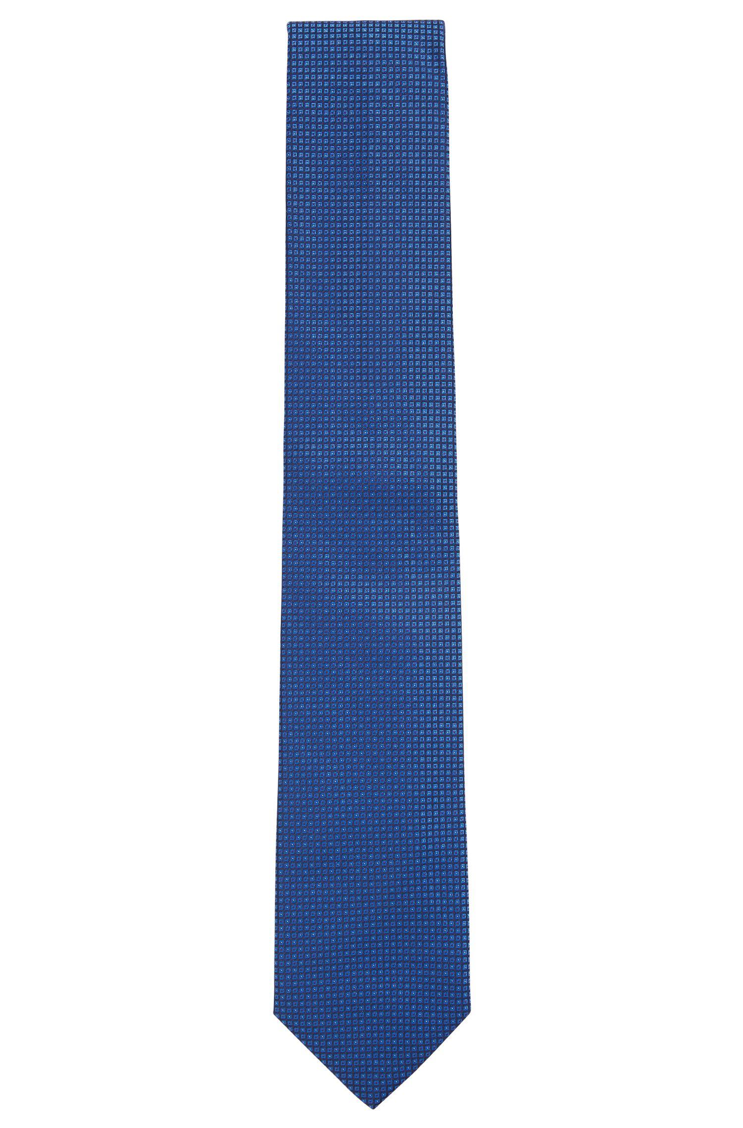 Nailhead Italian Silk Tie, Blue
