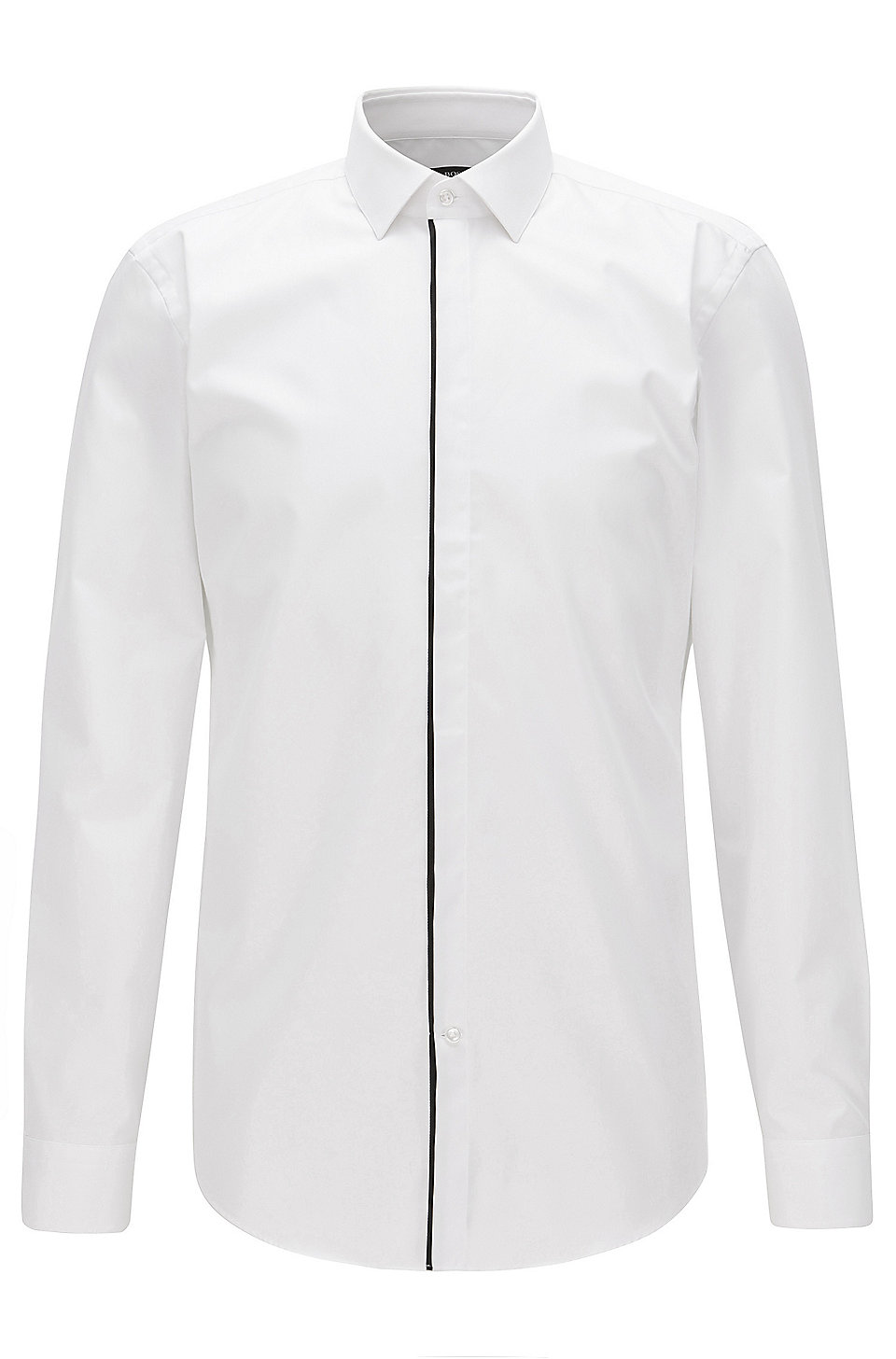 Boss Piped Cotton Dress Shirt Slim Fit Jamis
