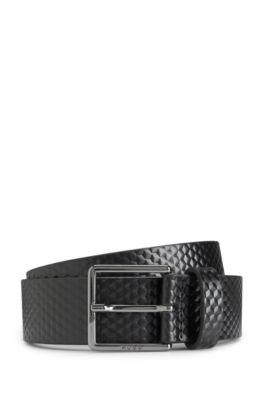 Leather Belt Back to Derb | 'Gervais', Black