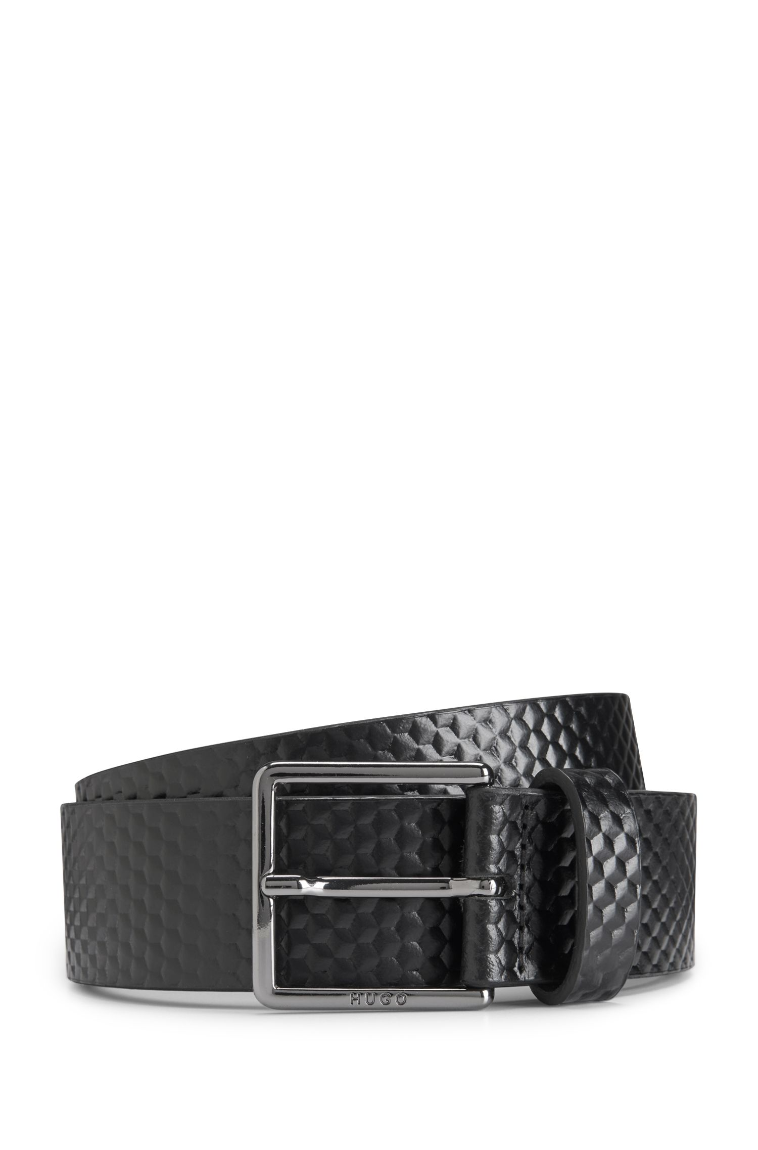 Leather Belt Back to Derb | 'Gervais', Black