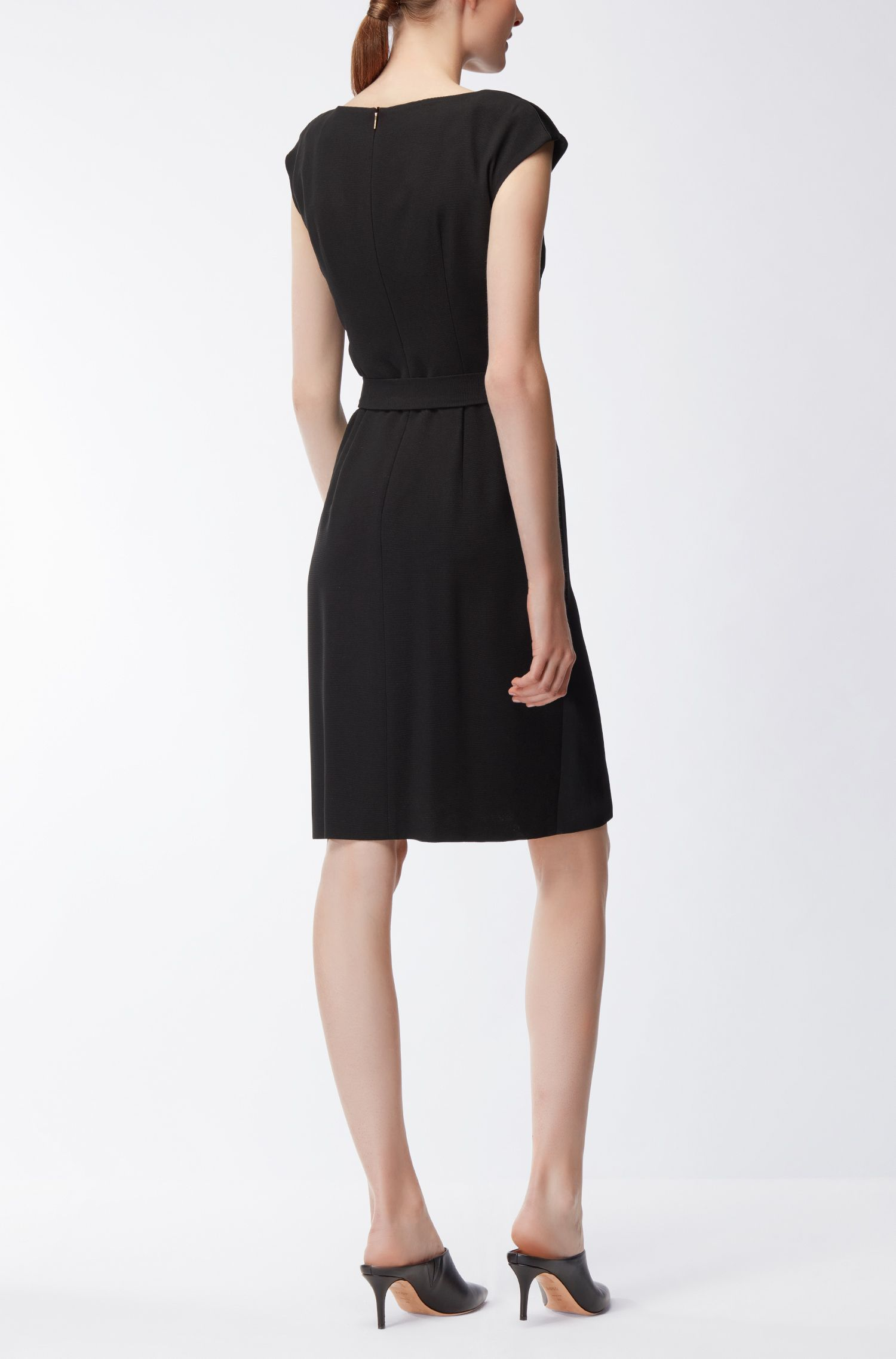 Asymmetrical Dress | Drapena, Black