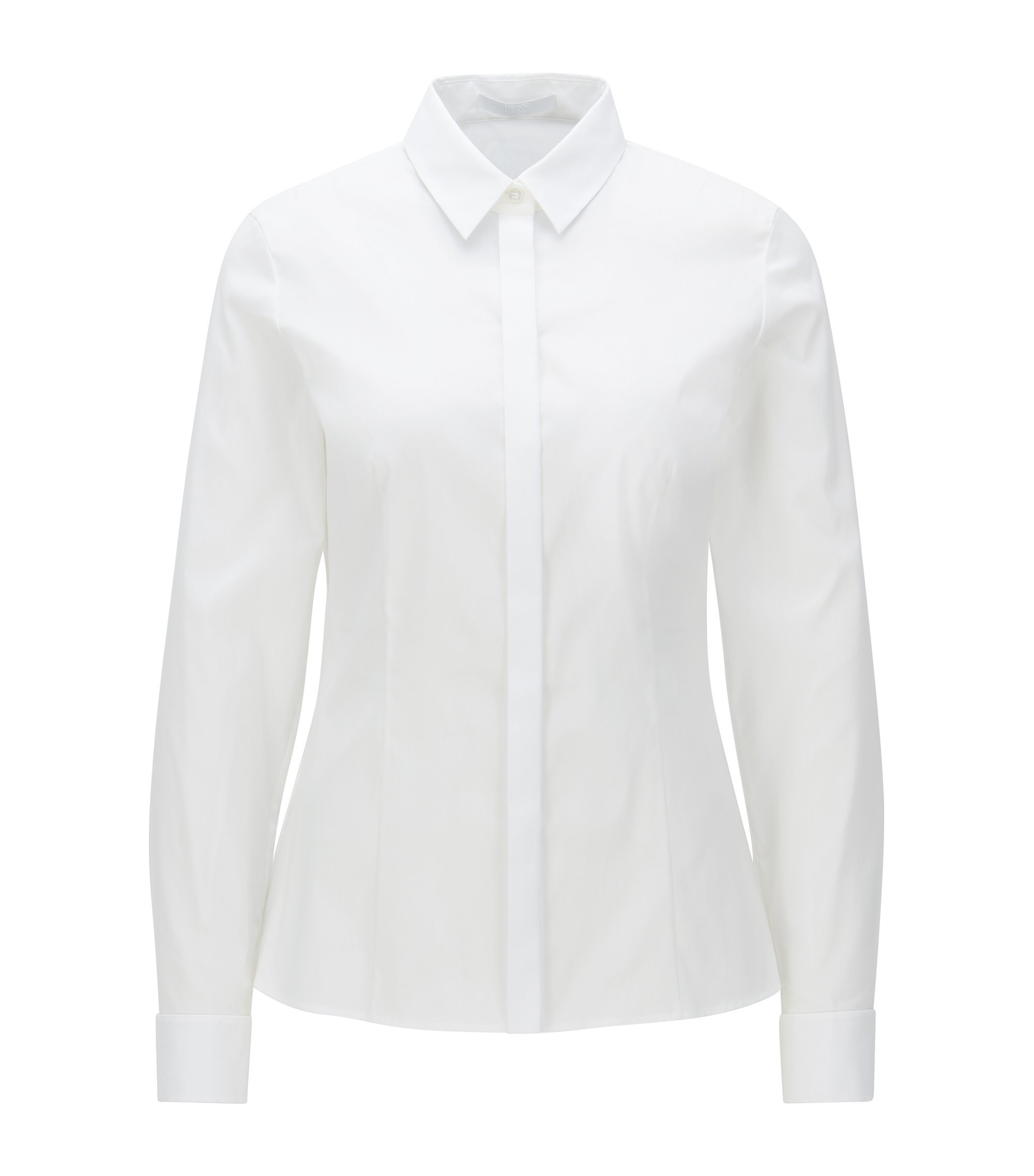 Cotton Blend Shirt | Bitara, White