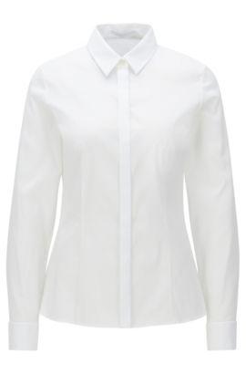 Cotton Blend Shirt | Bitara, White