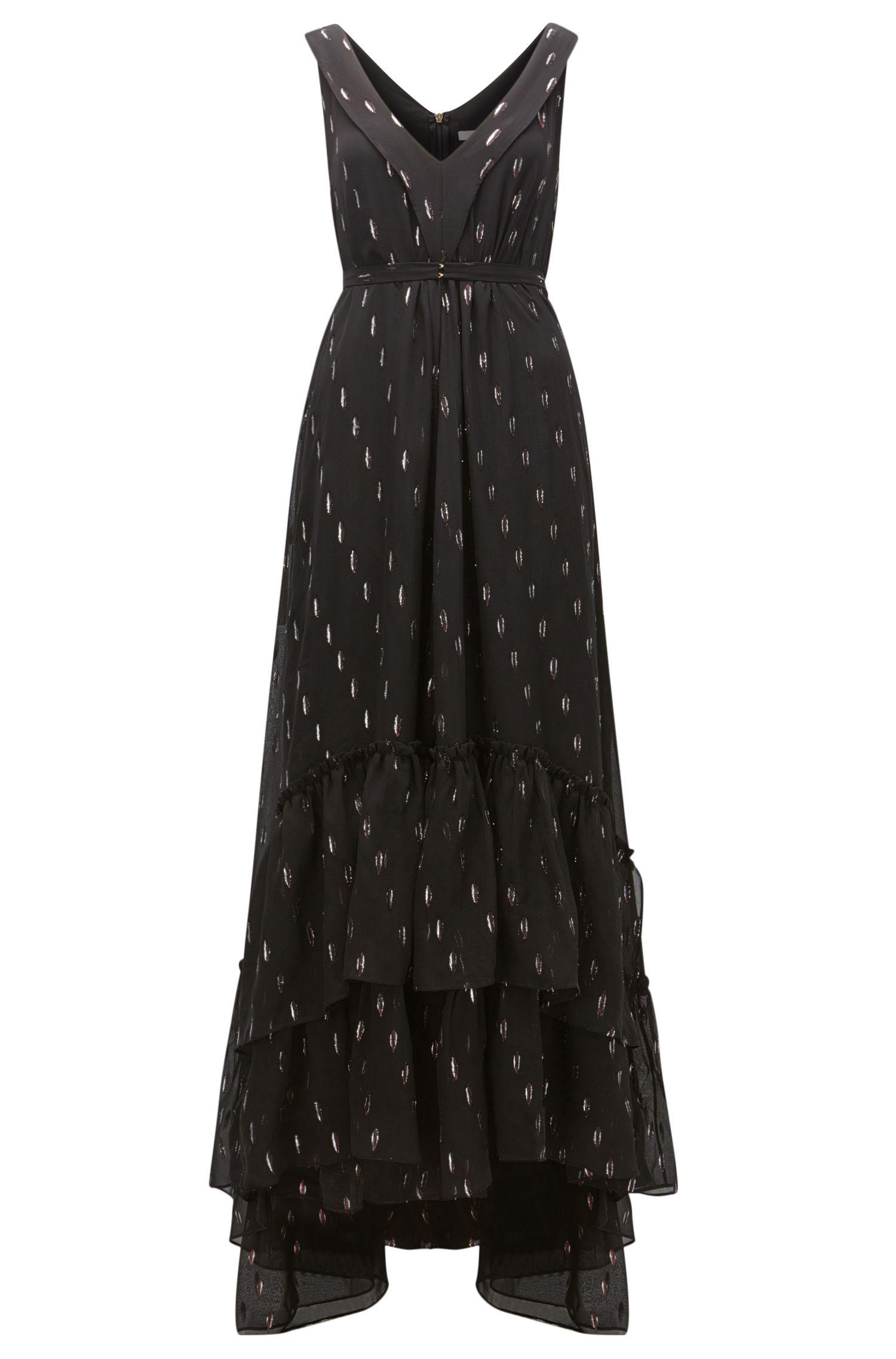 Metallized Silk Dress | Davimea