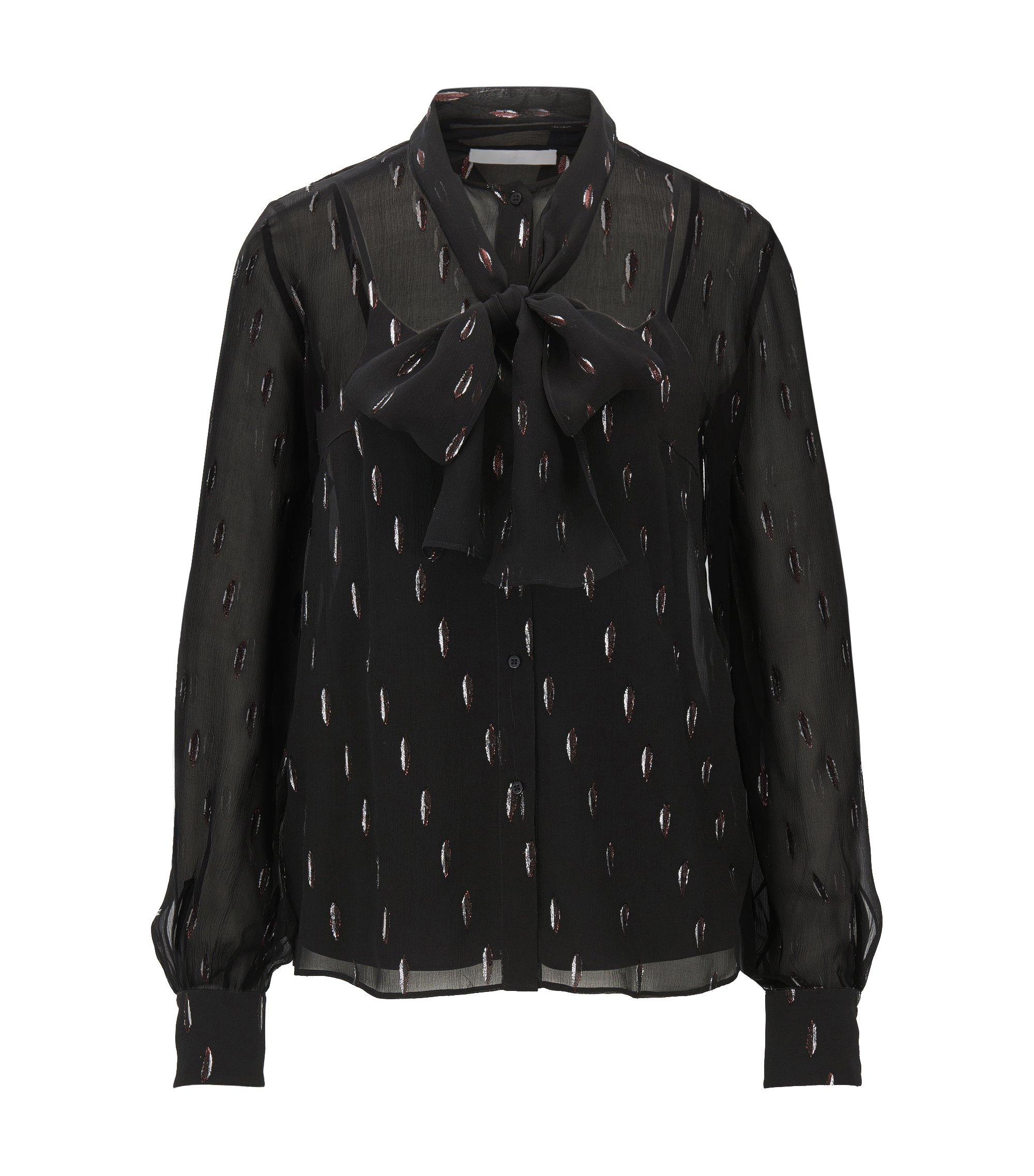 Dotted Metallicized Silk Blouse | Bavimea, Patterned