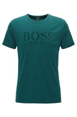 Logo-Print Graphic T-Shirt | Tessler, Open Green