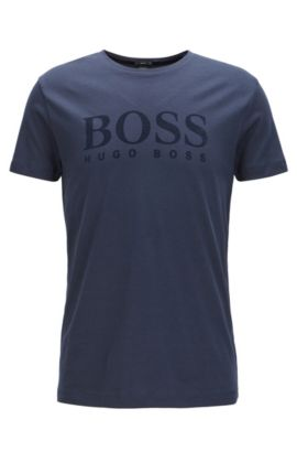 Logo-Print Graphic T-Shirt | Tessler, Dark Blue