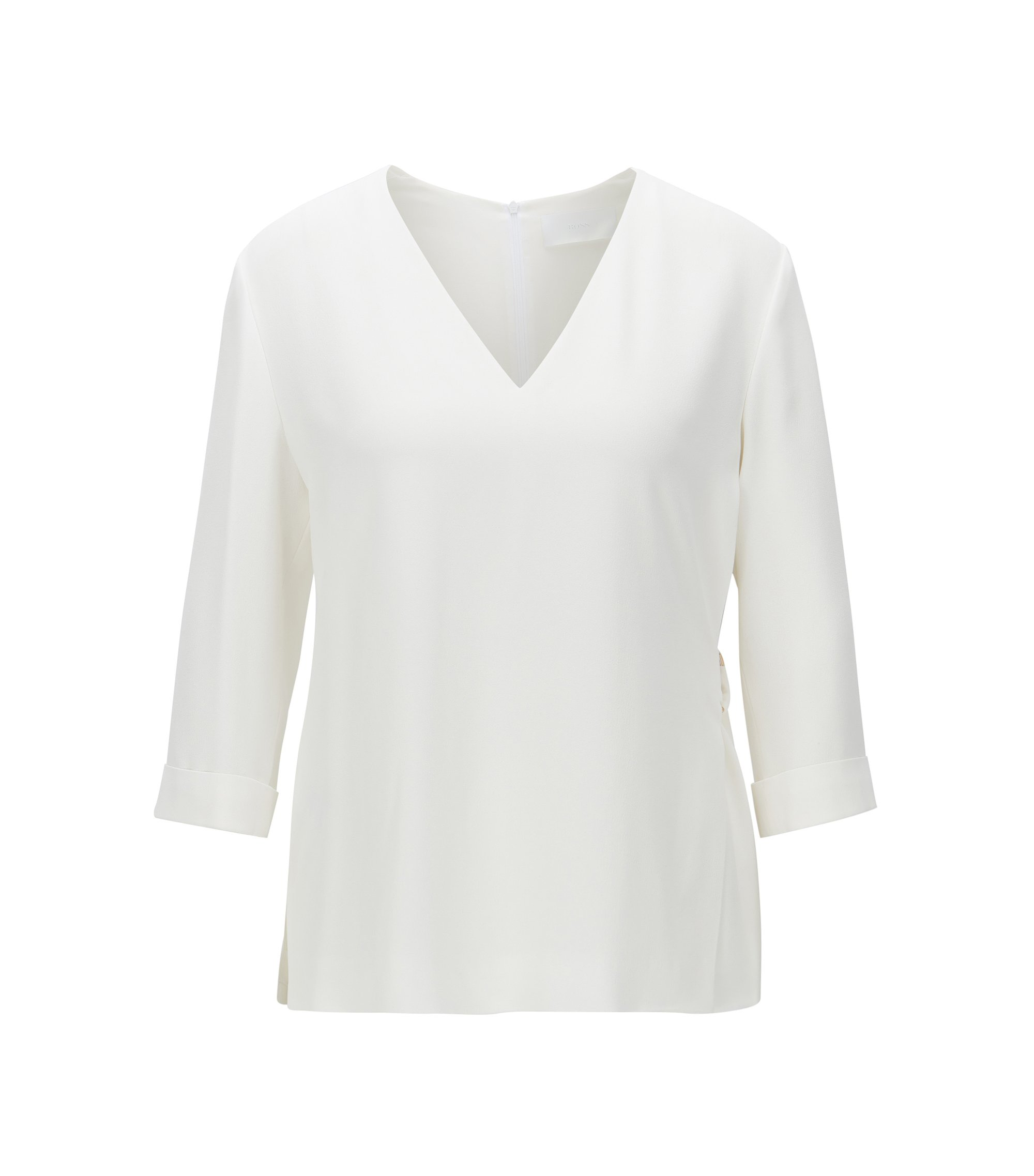V-Neck Top | Ilamara, Natural