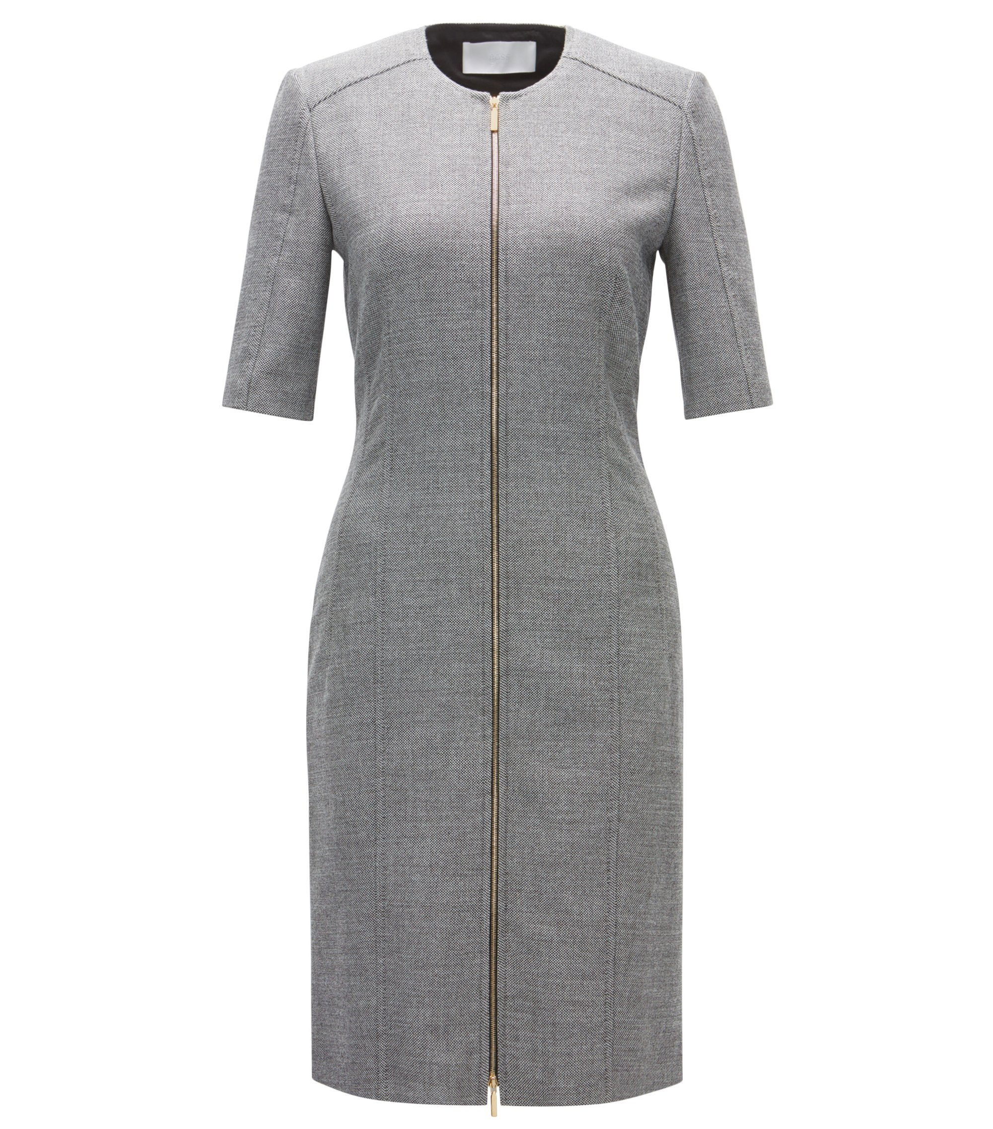 Zipped Sheath Dress | Demirana, Patterned