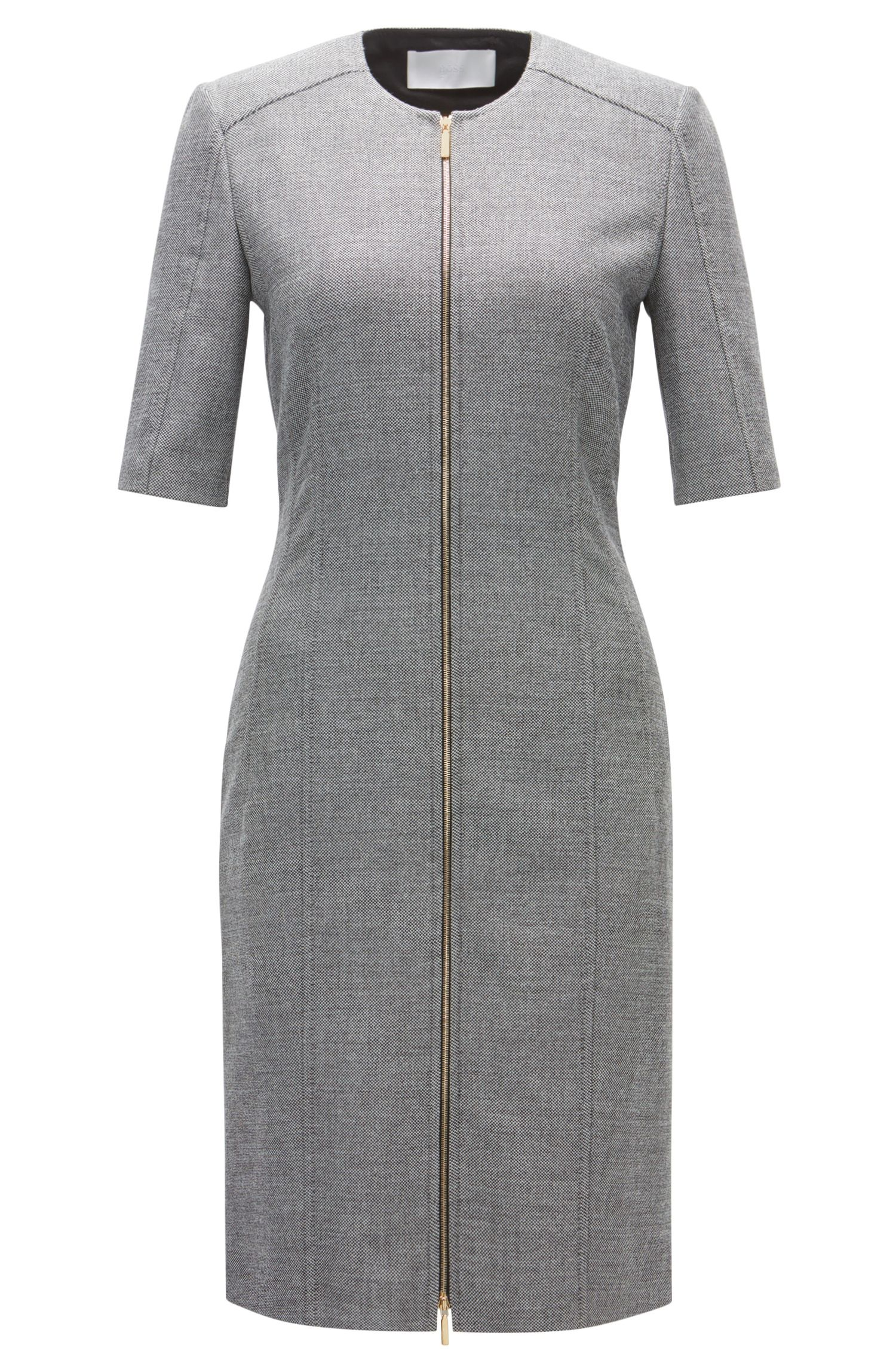 Zipped Sheath Dress | Demirana