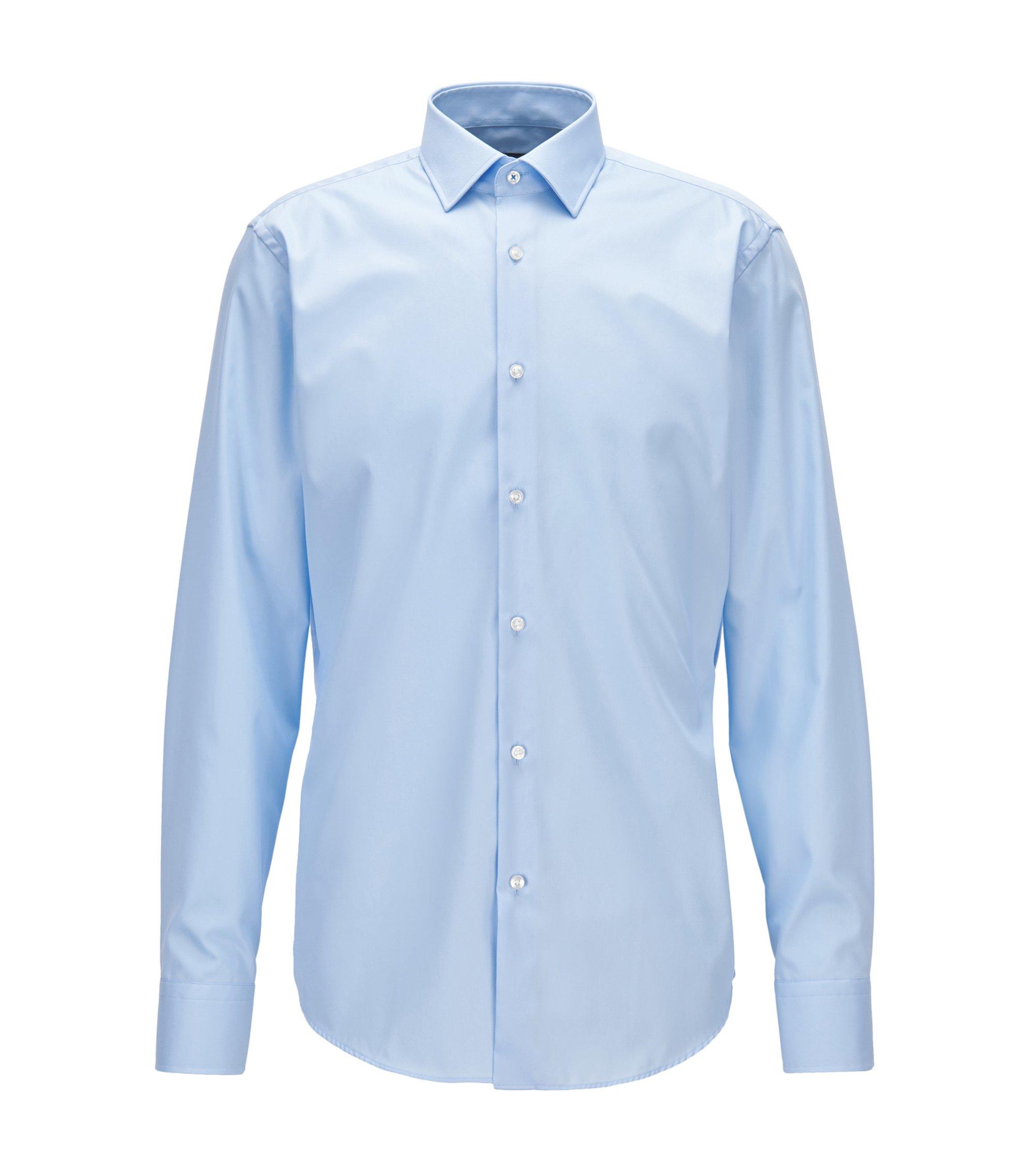 Easy Iron Cotton Dress Shirt, Regular Fit | Gerton, Light Blue